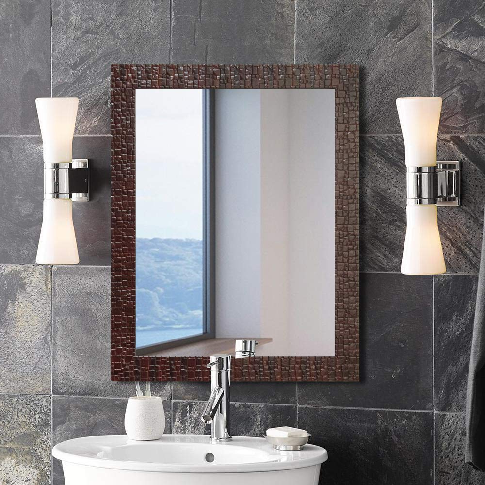 Preferred Red Wall Mirrors For Buy Art Street Marble Red Wall Mirror Inner Size 12 X (View 14 of 20)