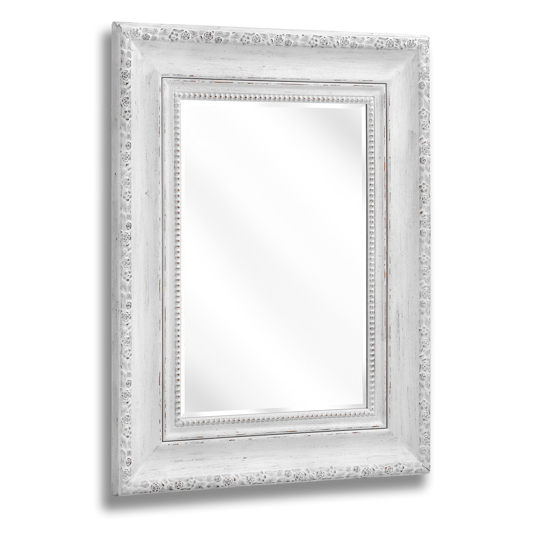 Preferred Rose Wall Mirror Antique White (99X129) (Gallery 12 of 20)