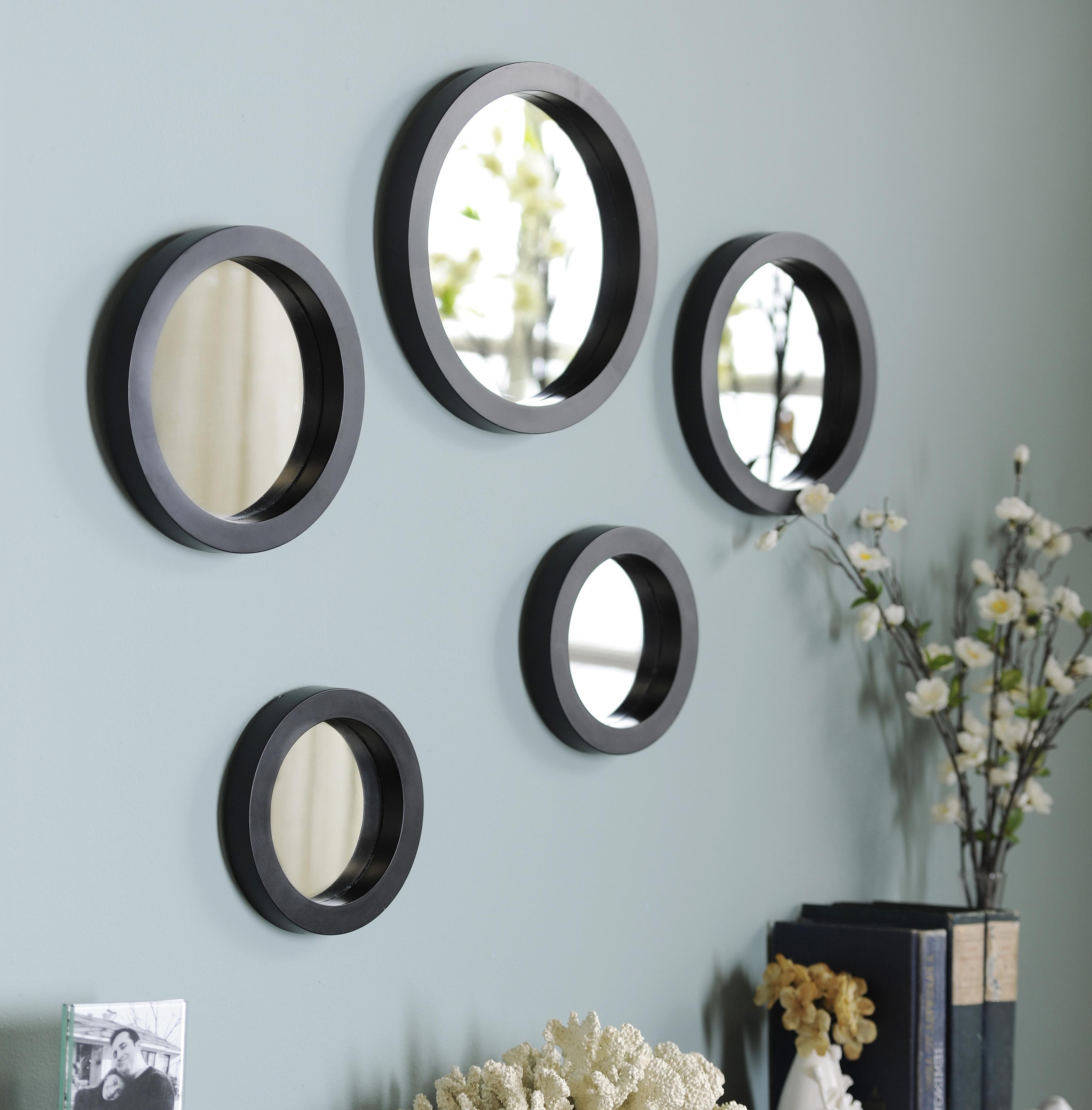 Preferred Round Wall Mirror Sets Inside Small Round Mirrors Wall Art Wall Art Ideas Cheap Office Decor (View 17 of 20)