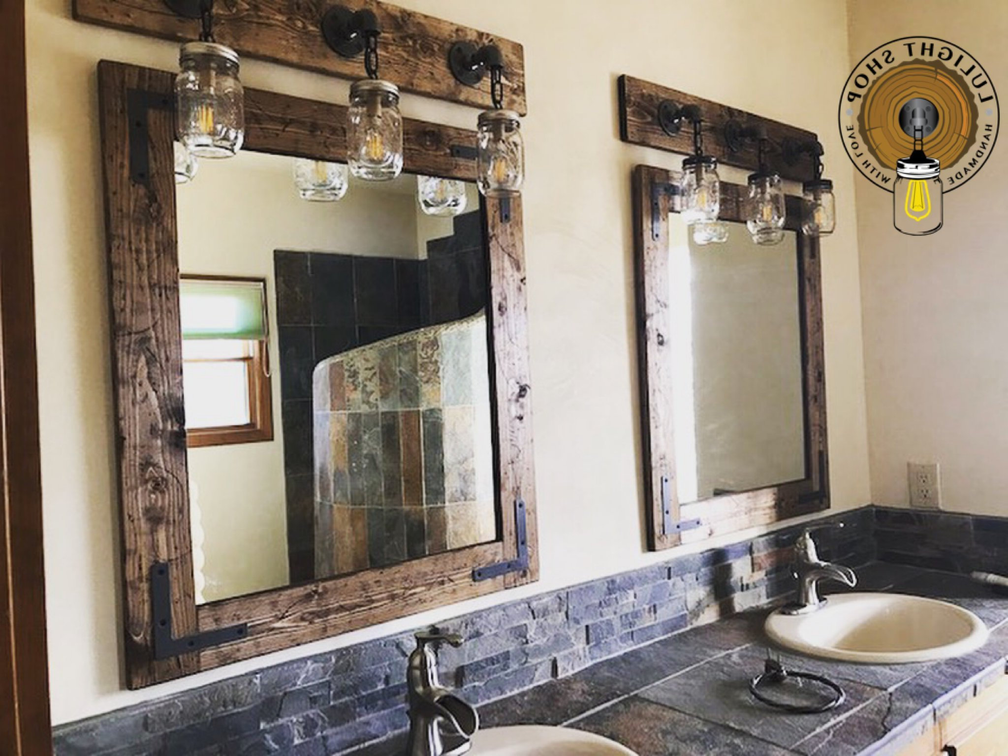Preferred Rustic Distressed Farmhouse Mirror, Wall Mirror, Vintage Mirror, Rustic Mirror, Wall Hanging Vanity Mirror, Rustic Decor, Standing Mirrors Throughout Standing Wall Mirrors (View 17 of 20)