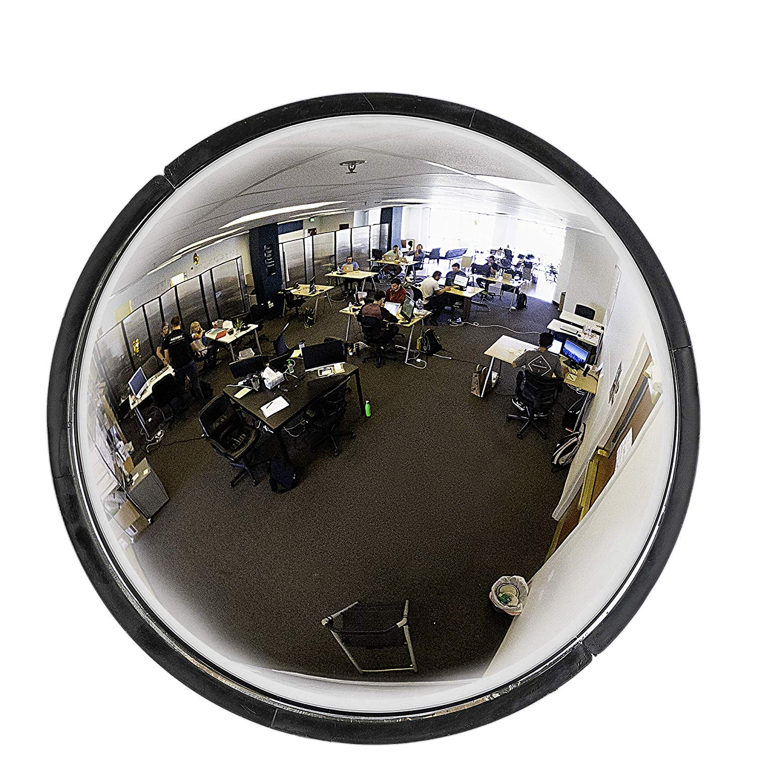 "Preferred Safety Wall Mirrors For 36"" Acrylic Bubble Dome Mirror, Round Indoor Security Mirror For Driveway Safety Spots, Outdoor Warehouse Side View, Circular Wall Mirror For Office (View 6 of 20)"