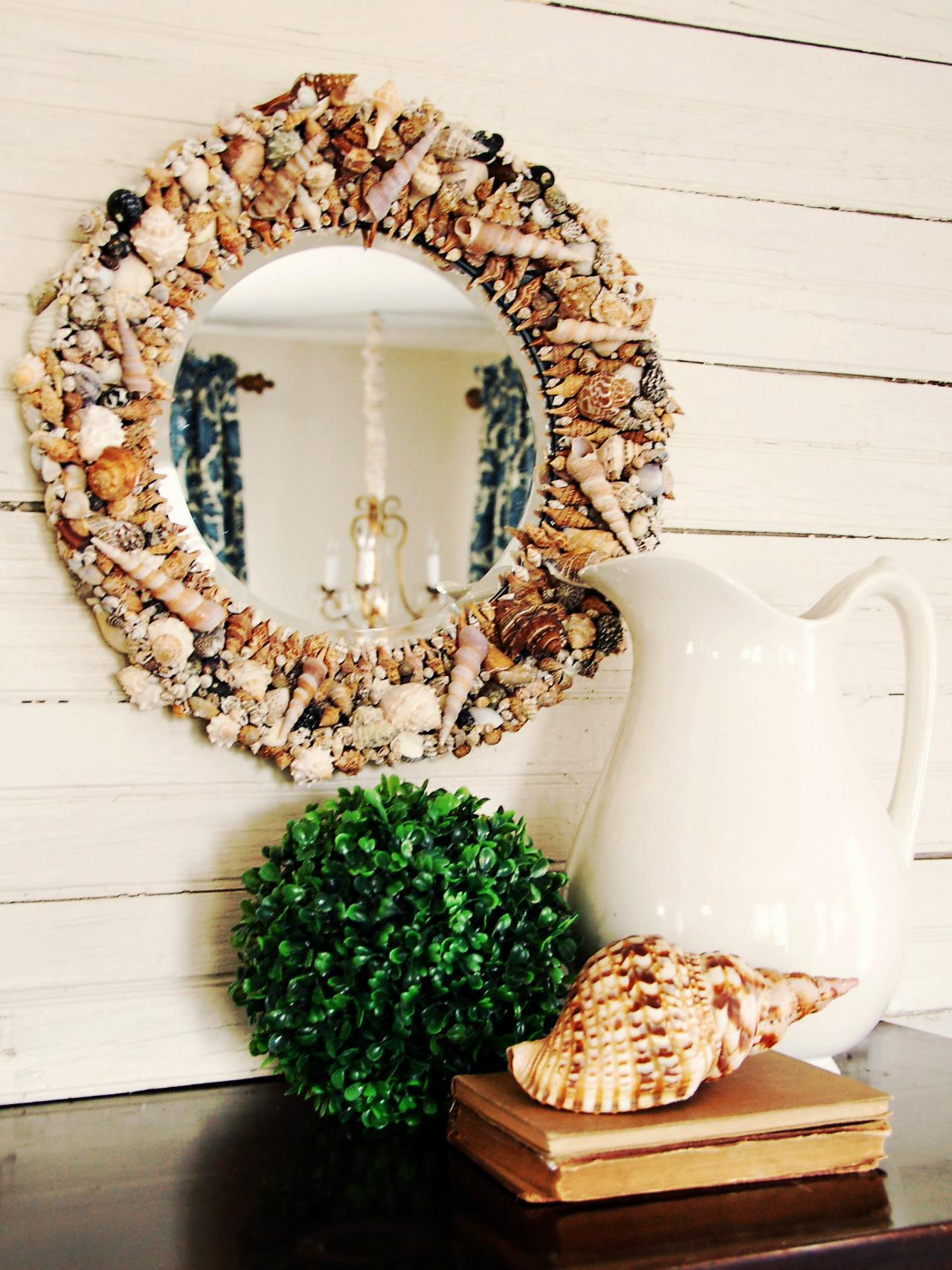 Preferred Seashell Wall Mirrors Throughout 23 Striking Shell Mirror Designs With Tutorials (View 10 of 20)