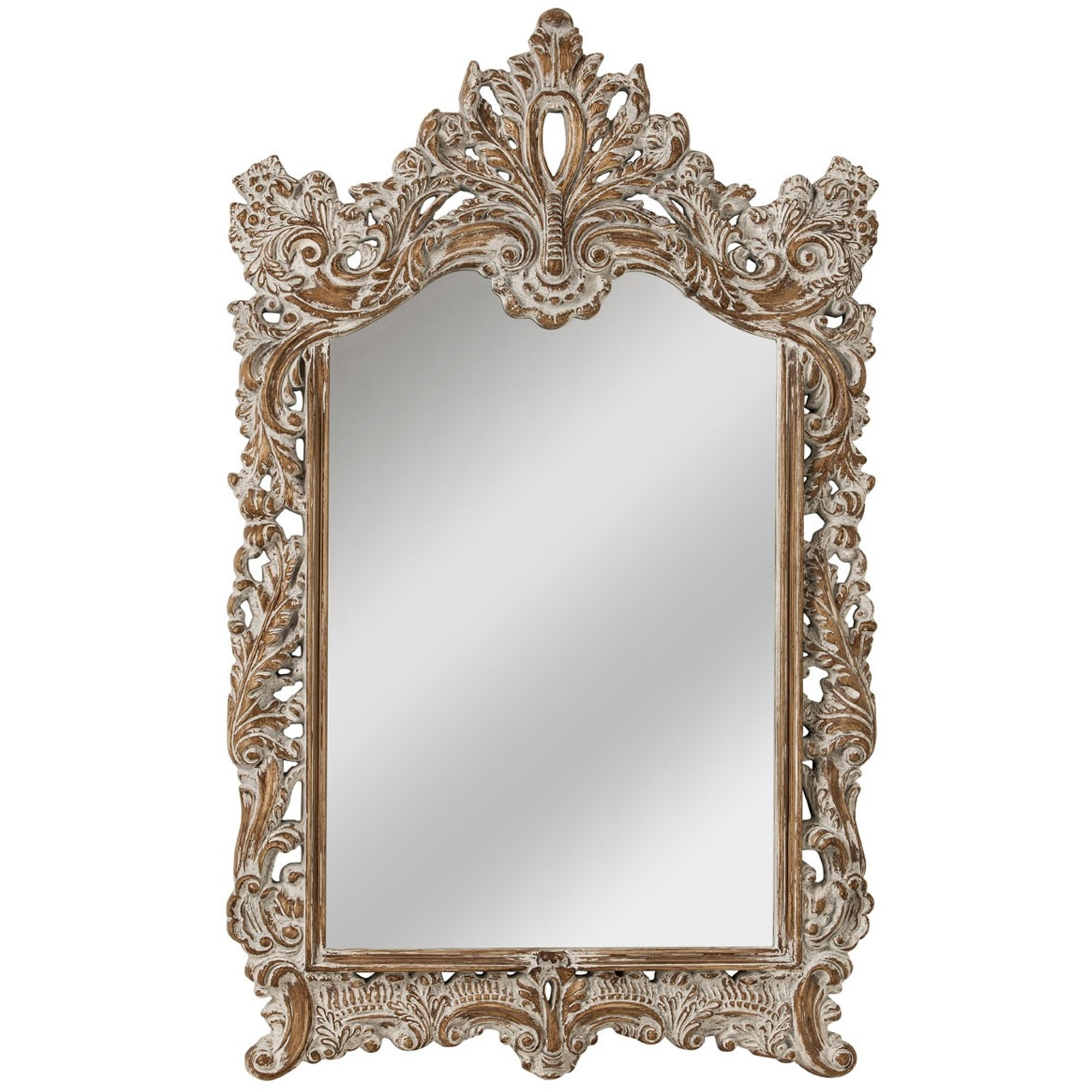 Preferred Shabby Chic Baroque Wall Mirror Intended For Baroque Wall Mirrors (View 13 of 20)