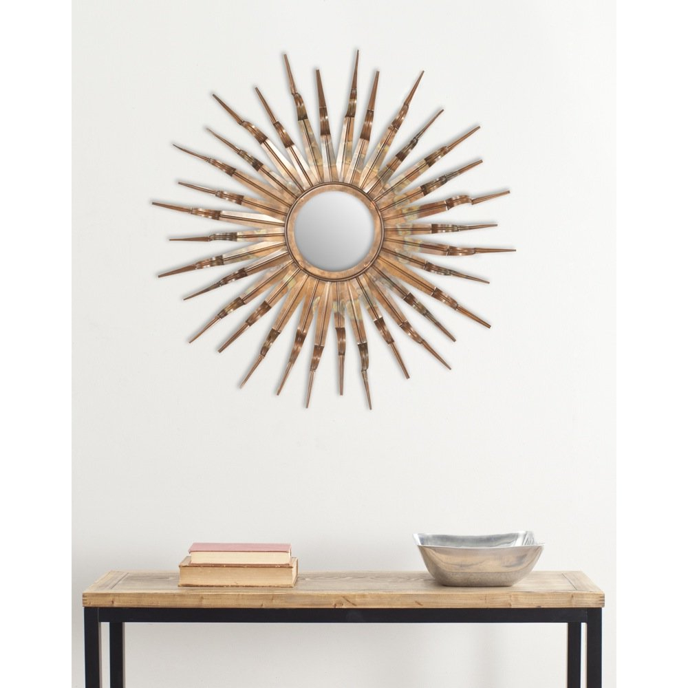 Preferred Sun Wall Mirrors Inside Bronze And Gold Sun Wall Mirror (View 13 of 20)