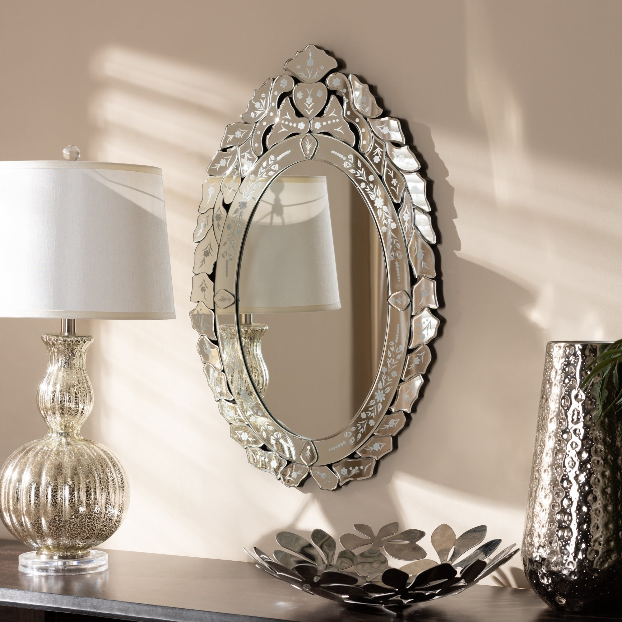 Preferred Traditional Silver Venetian Style Wall Mirrorbaxton Studio – Antique Silver For Bracelet Traditional Accent Mirrors (View 12 of 20)