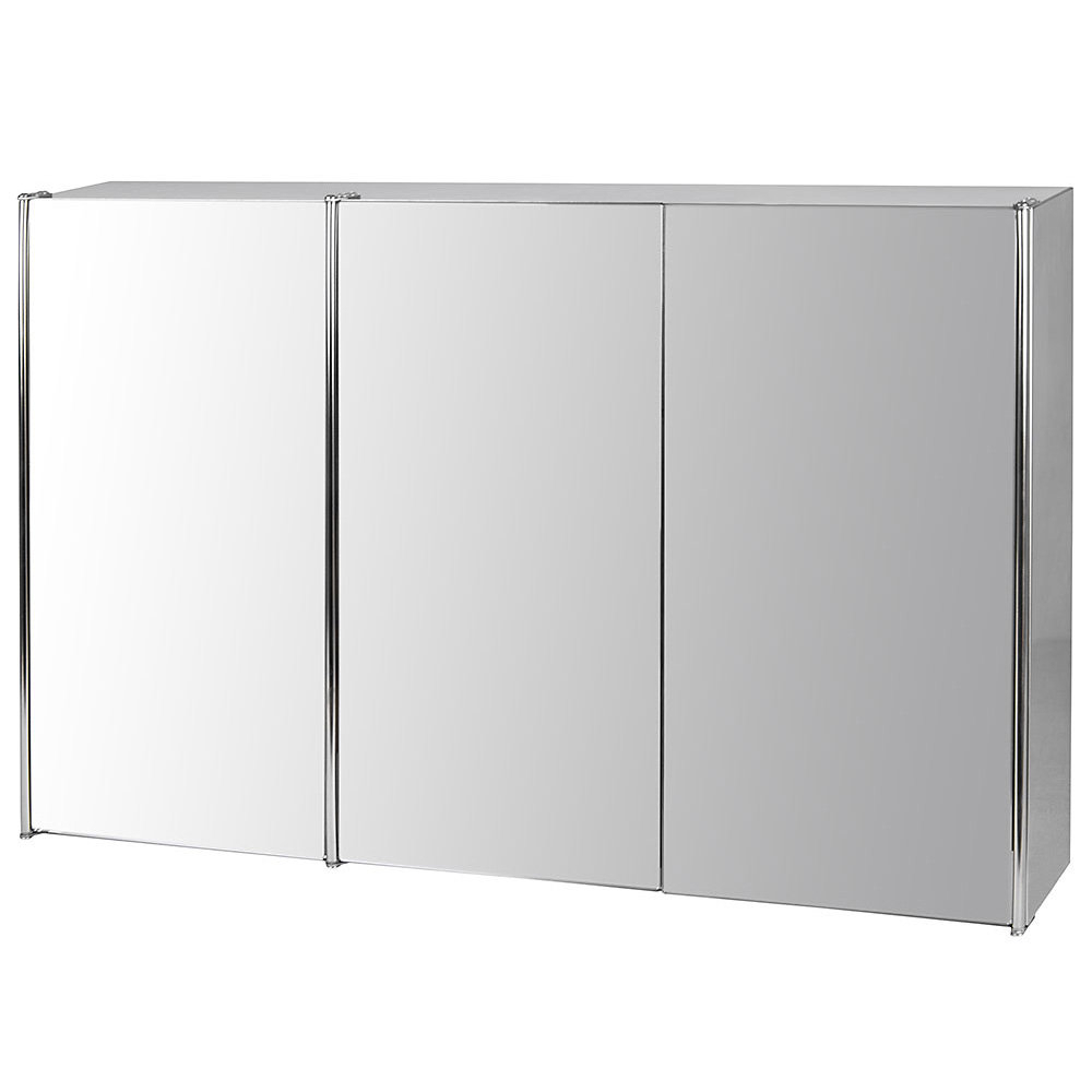 Preferred Triple Wall Mirrors Inside Bathroom Triple 68Cm X 45Cm Wall Mounted Mirror Cabinet (View 10 of 20)