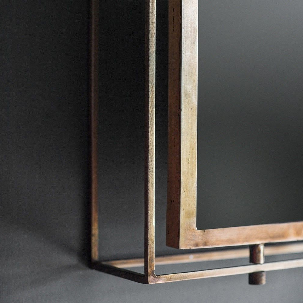 Preferred Triple Wall Mirrors Pertaining To Tribeca Triple Wall Mirror – Antique Copper (View 11 of 20)