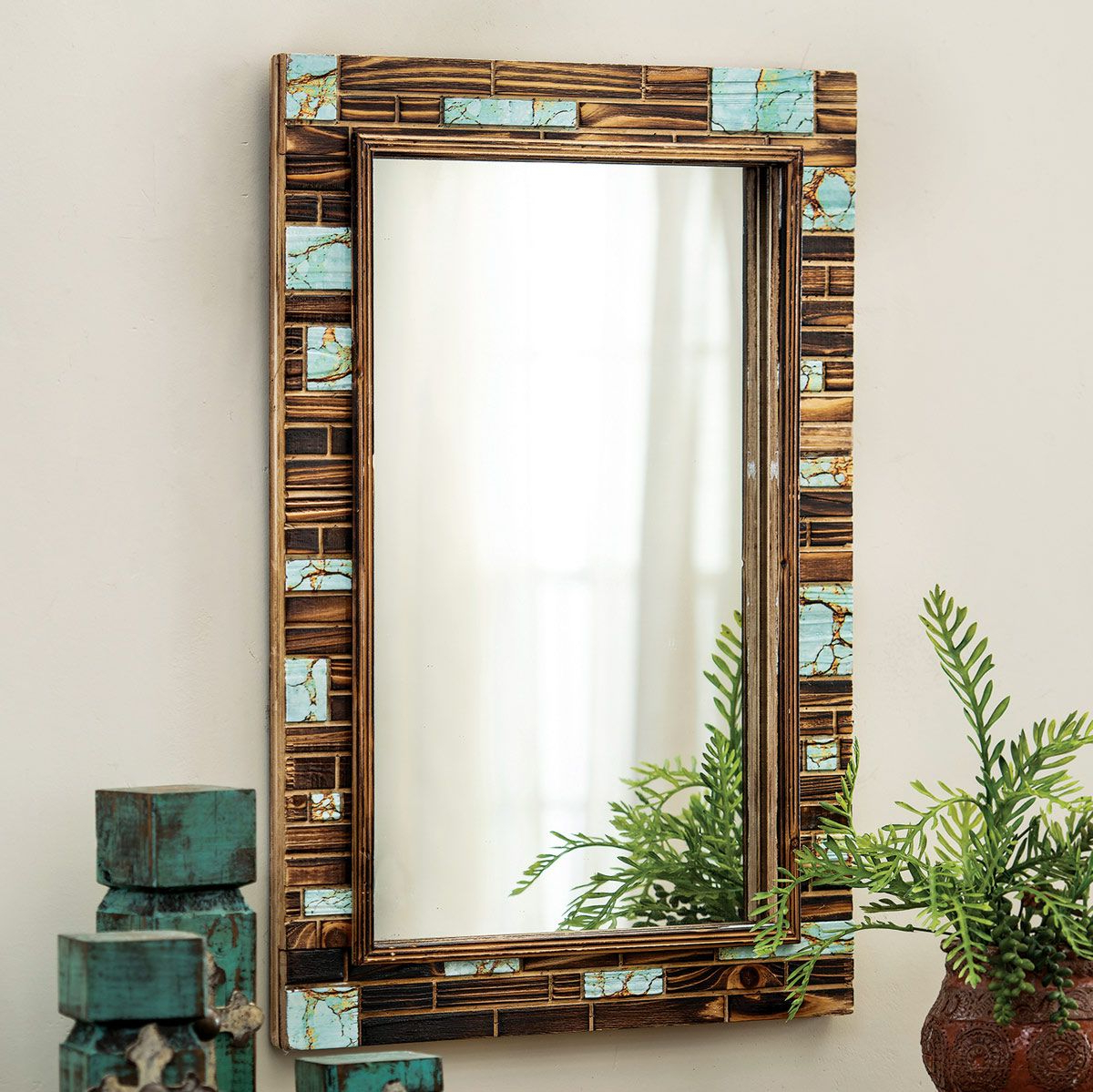 Preferred Turquoise Wall Mirrors Pertaining To Turquoise Canyon Wall Mirror (View 9 of 20)