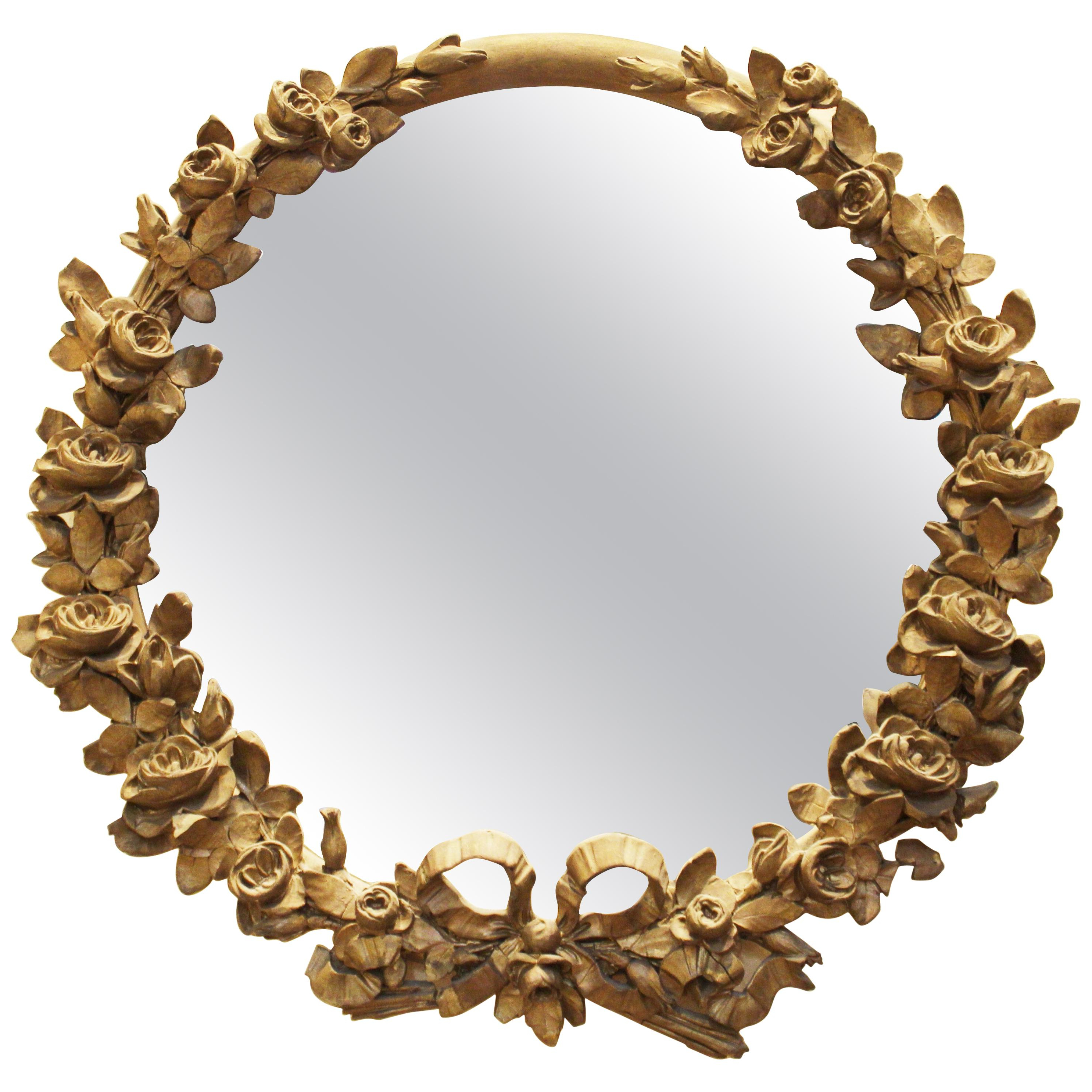 Preferred Vertical Round Wall Mirrors For Antique And Vintage Wall Mirrors – 13,029 For Sale At 1stdibs (View 15 of 20)