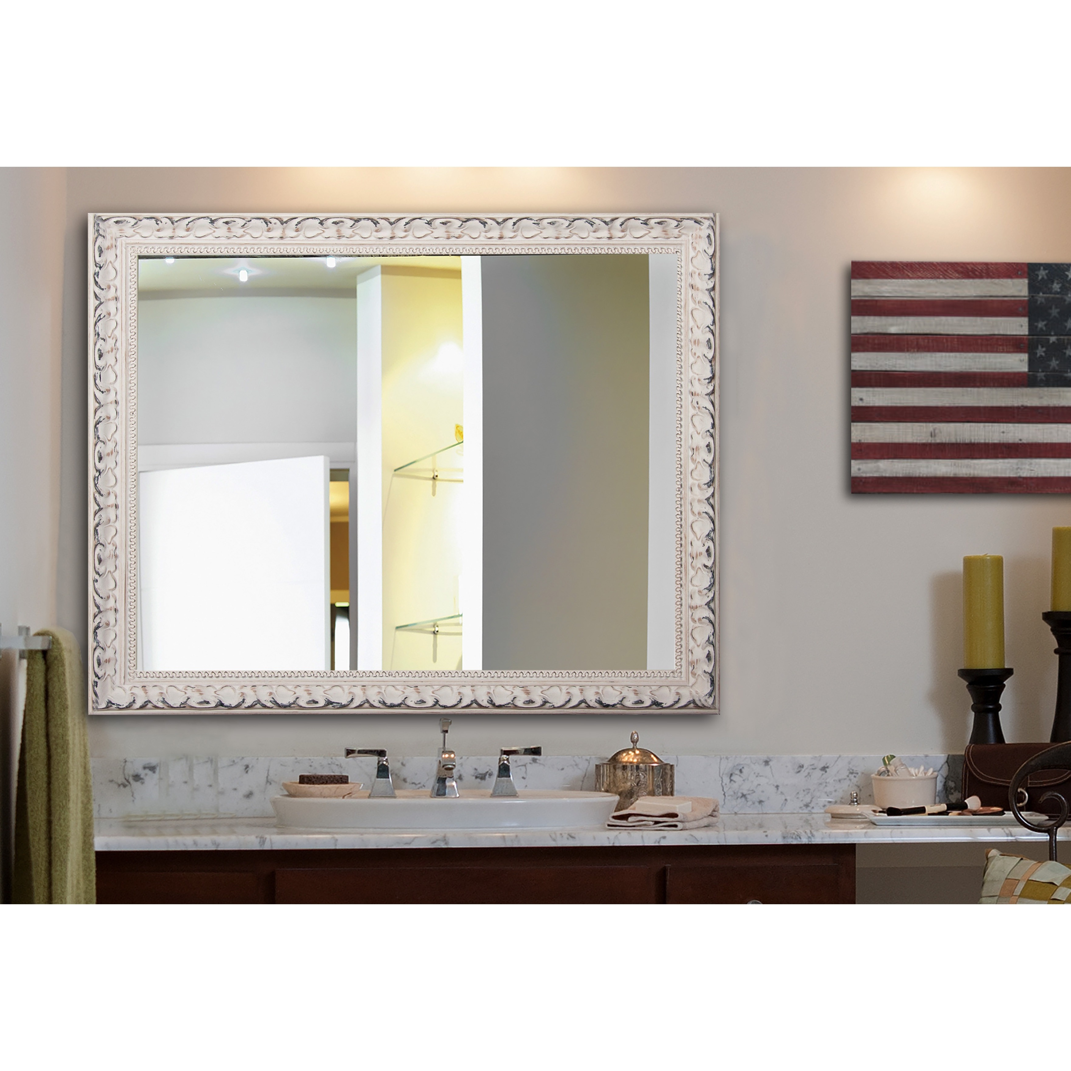 Preferred Victorian Wall Mirrors Within Rayne Mirrors Victorian White Wall Mirror (View 14 of 20)