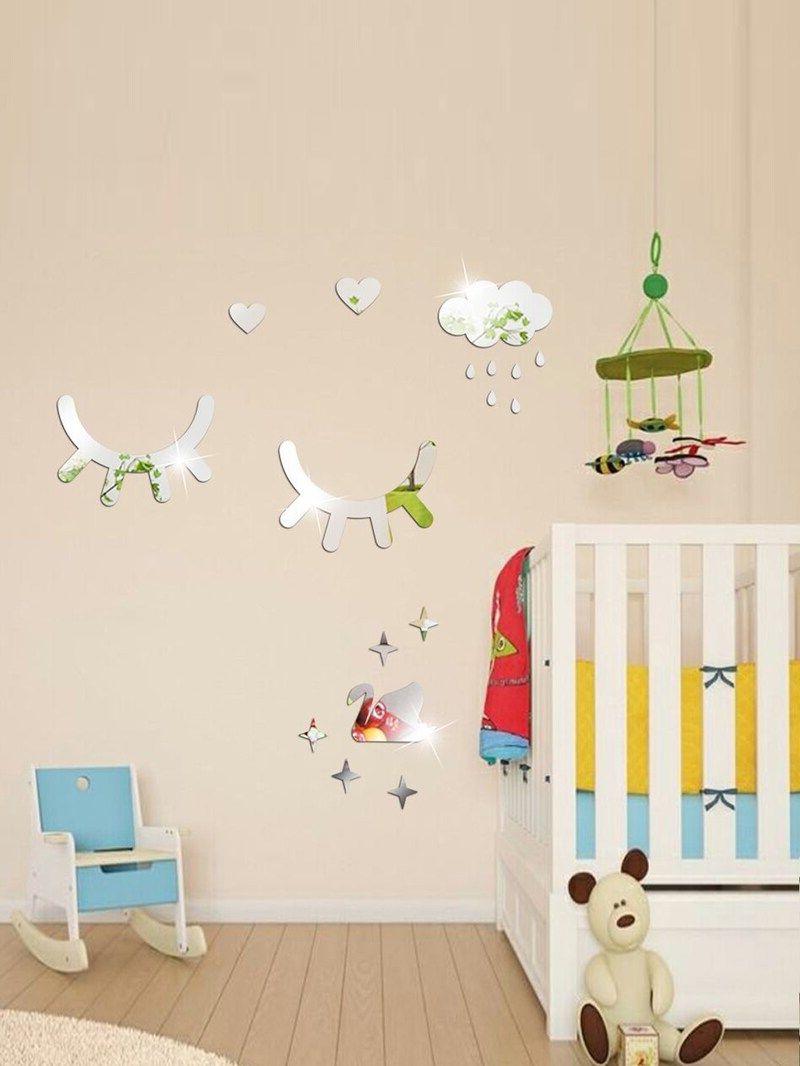 Preferred Wall Mirror Stickers With Eyelash & Cloud Wall Mirror Sticker (View 14 of 20)