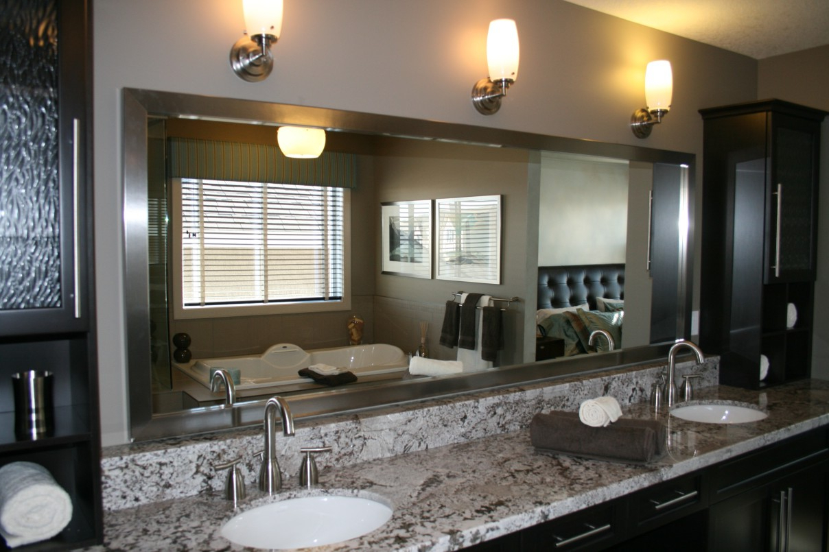 Preferred Wall Mirrors For Bathroom Vanities For Gewinnen Bathroom Vanity Wall Mirrors Mount Ideas Silver (View 18 of 20)