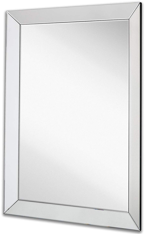 Premium Silver Backed Glass Panel Vanity, Bedroom, Or Bathroom (View 5 of 20)