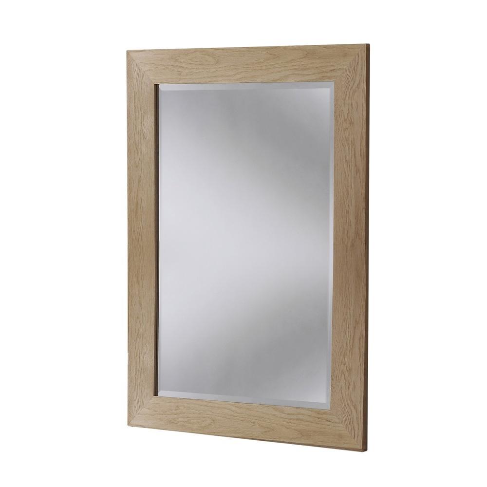 Preston Solid Oak Wall Mirrors – 58.5Cm X  (View 10 of 20)