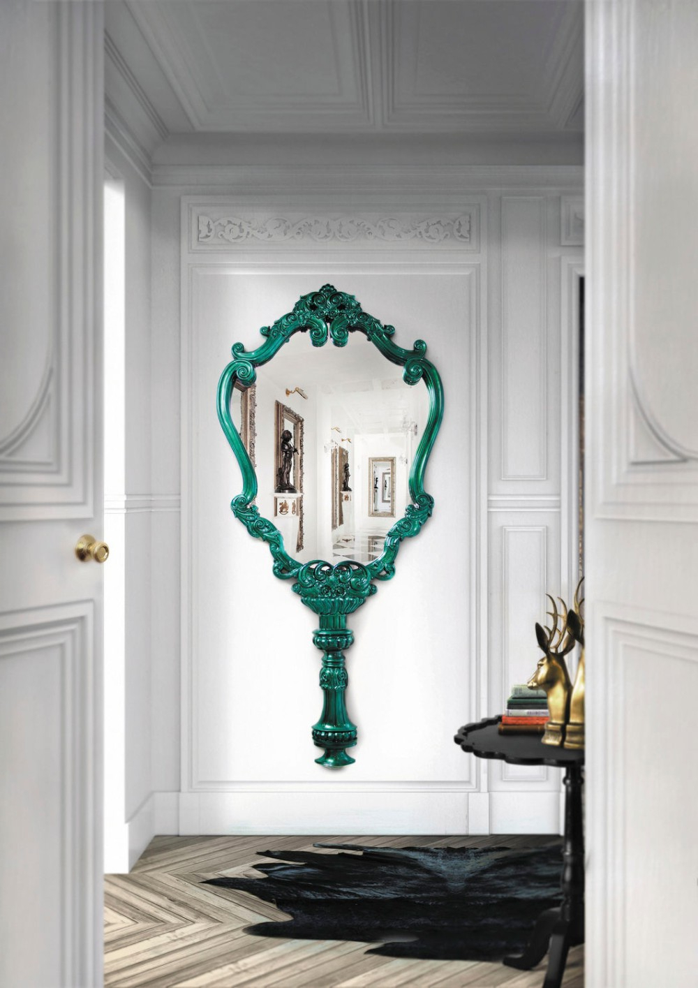 Pretty Wall Mirrors Intended For Widely Used 20 Exquisite Wall Mirror Designs For Your Living Room (View 2 of 20)