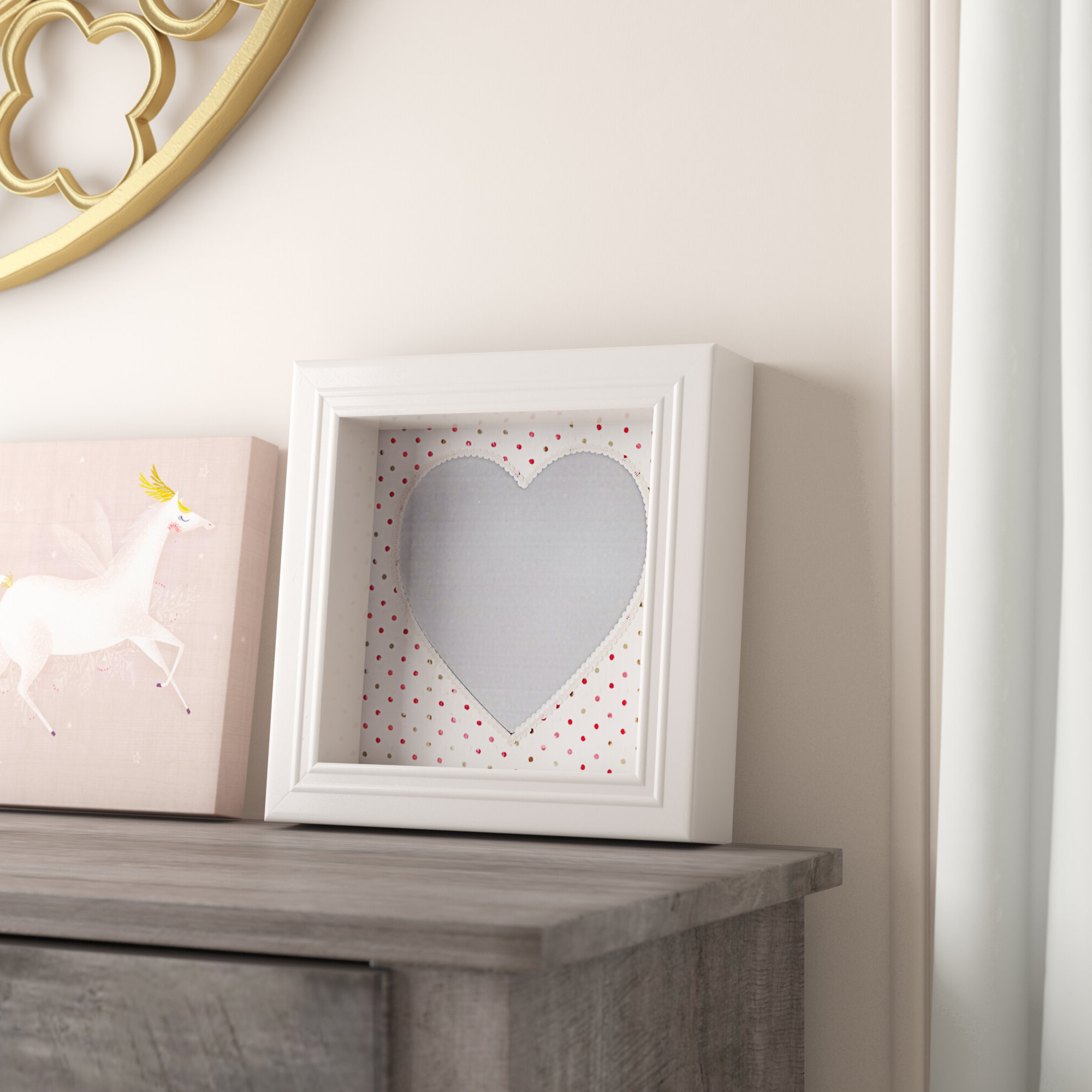 Pretty Wall Mirrors Within Well Liked Acker Beautiful And Pretty Heart Shaped Accent Wall Mirror (View 13 of 20)