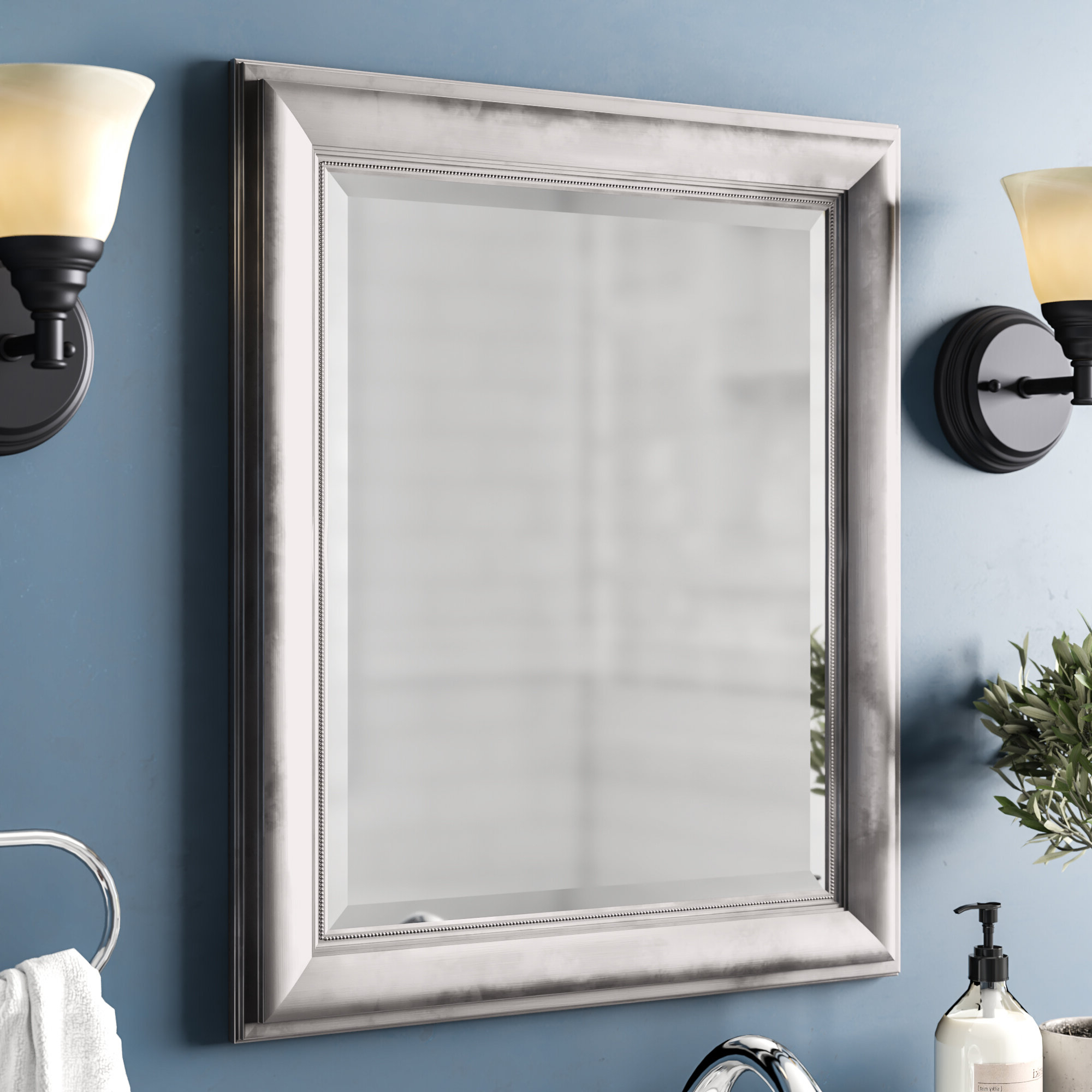 Princeton Rectangular Framed Wall Mirror Within Latest Dedrick Decorative Framed Modern And Contemporary Wall Mirrors (View 19 of 20)
