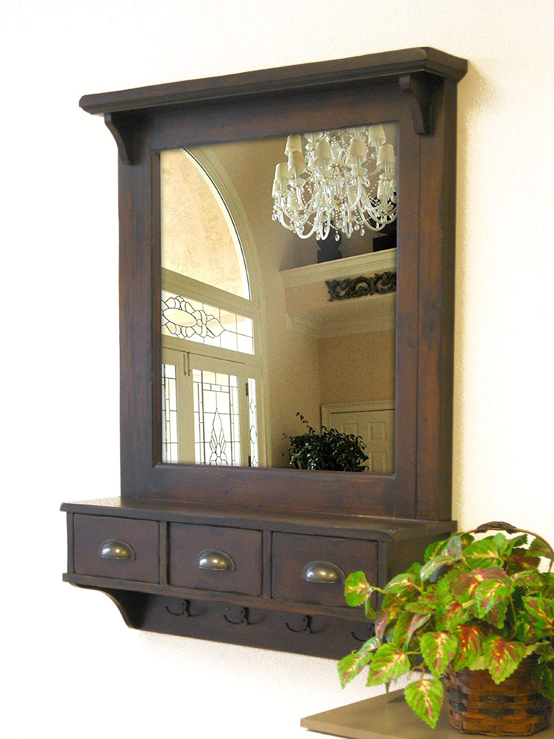 Proman Products Wall Mirror And Organizer With Regard To Fashionable Wall Mirrors With Drawers (View 1 of 20)