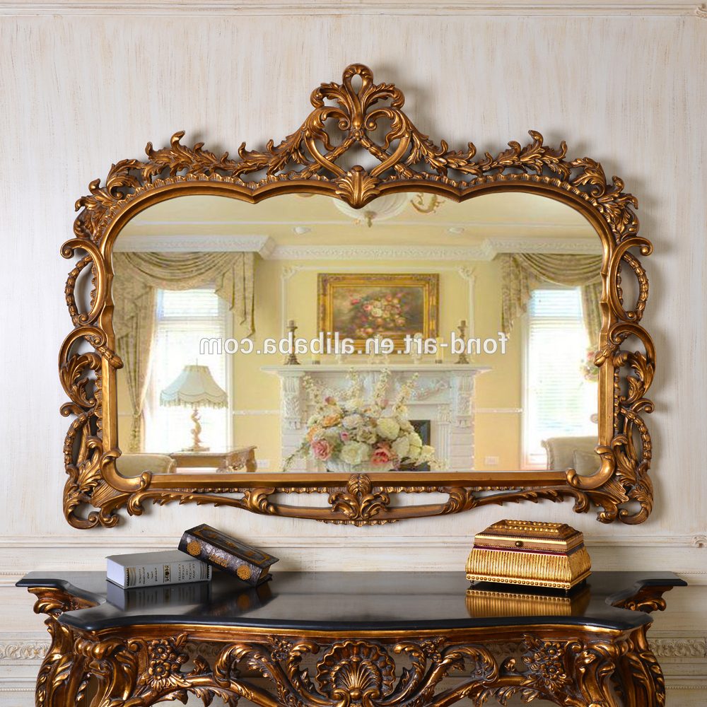Pu247 Classic Fancy Wall Decorative Framed Mirror Elegant Wall Mirrors –  Buy Classic Framed Mirror,elegant Wall Mirrors,decorative Mirror Product On With Regard To Well Liked Mirror Framed Wall Mirrors (View 16 of 20)