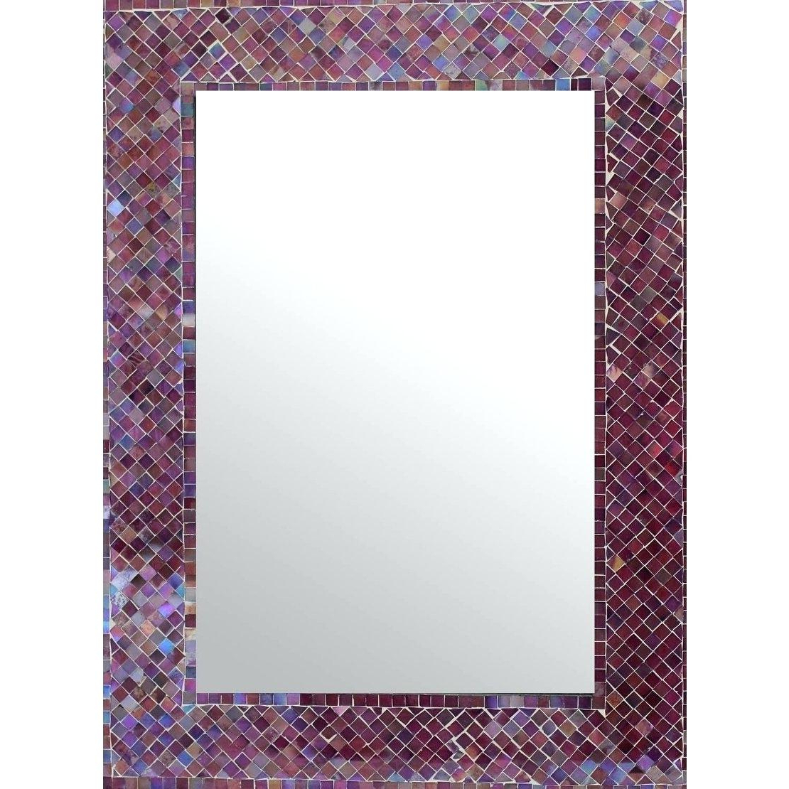 Purple Wall Mirrors Throughout Most Up To Date Purple Wall Mirror – Acodres (View 16 of 20)