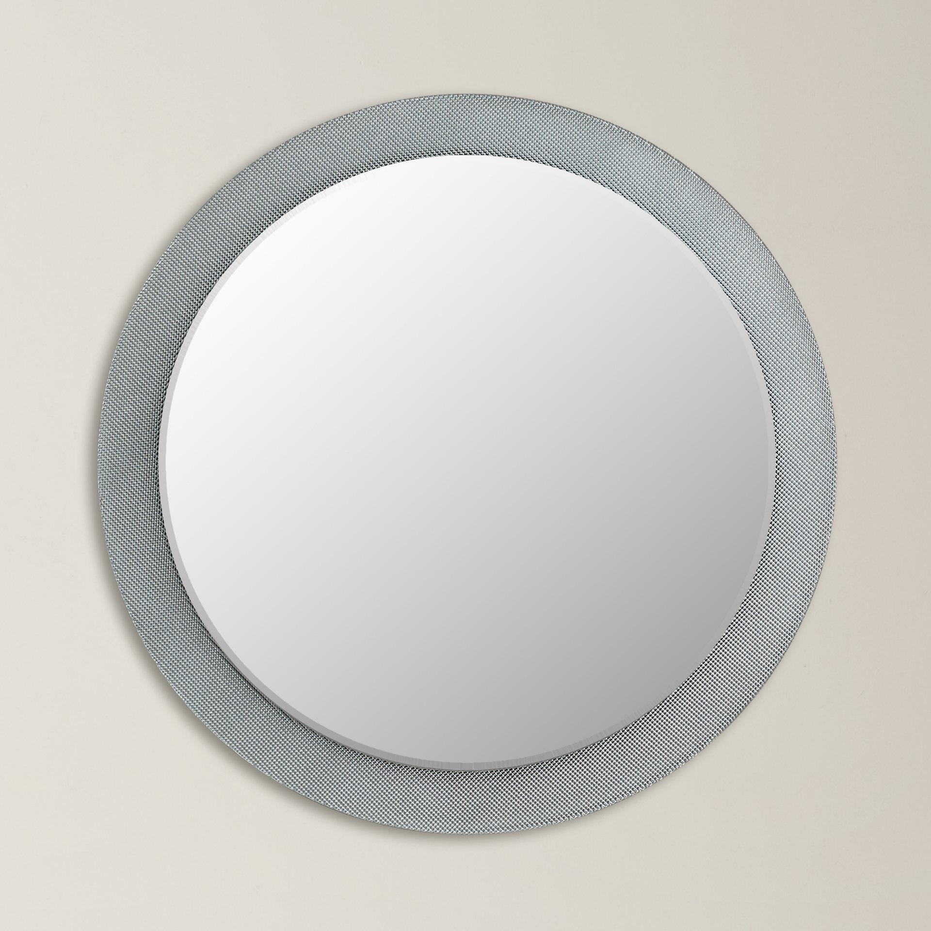 Raelyn Wall Mirror In Popular Sajish Oval Crystal Wall Mirrors (View 6 of 20)