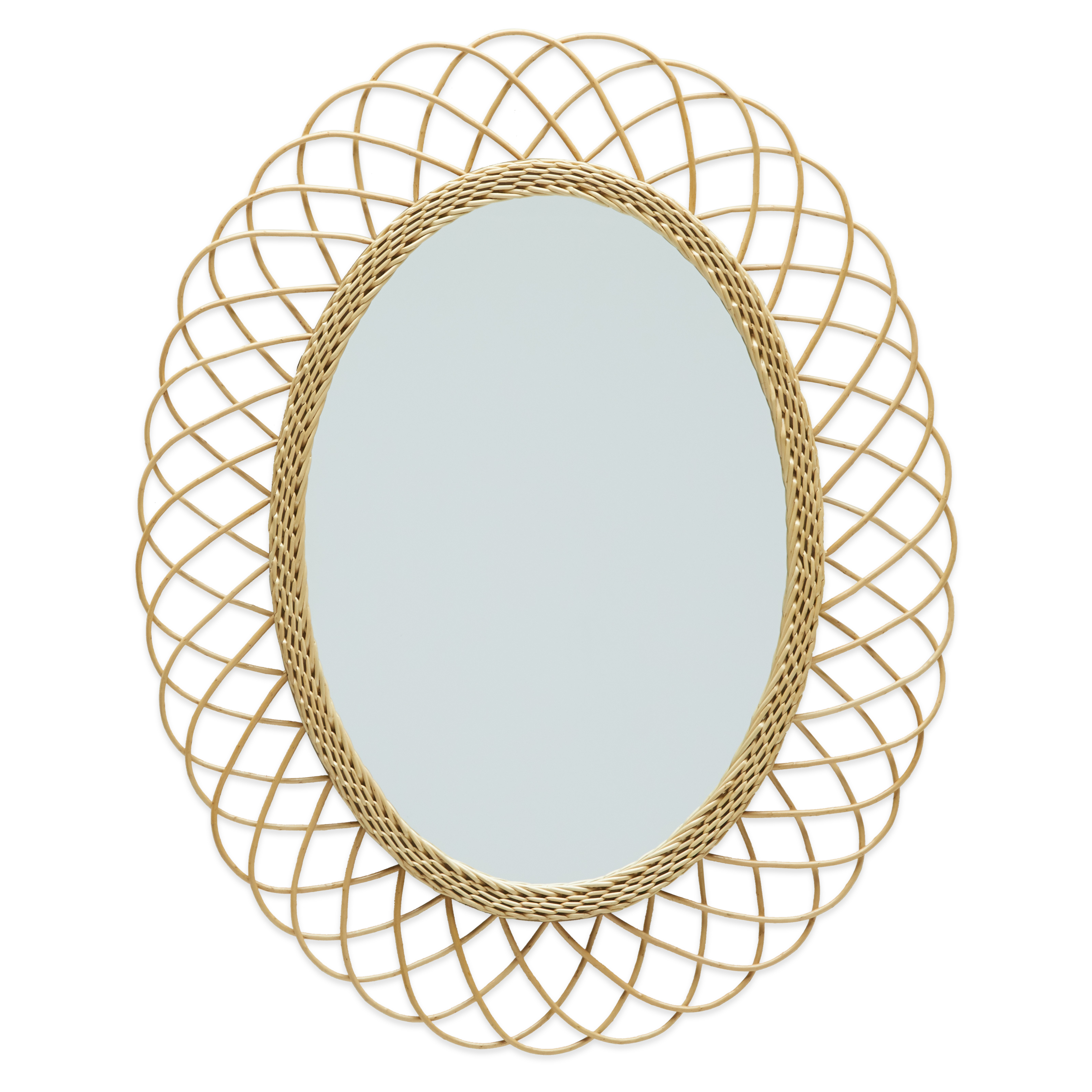 Rattan Oval Wall Mirrordrew Barrymore Flower Home – Walmart With Regard To Famous Rattan Wall Mirrors (Gallery 11 of 20)