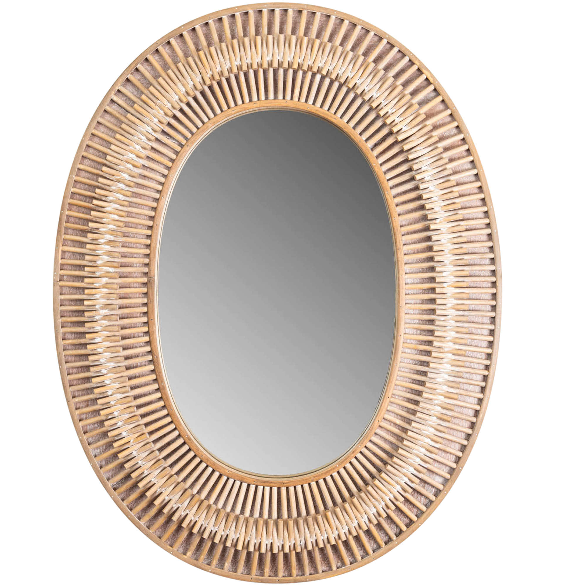 Rattan Wall Mirrors In Most Popular Natural Silas Oval Rattan Wall Mirror (View 9 of 20)