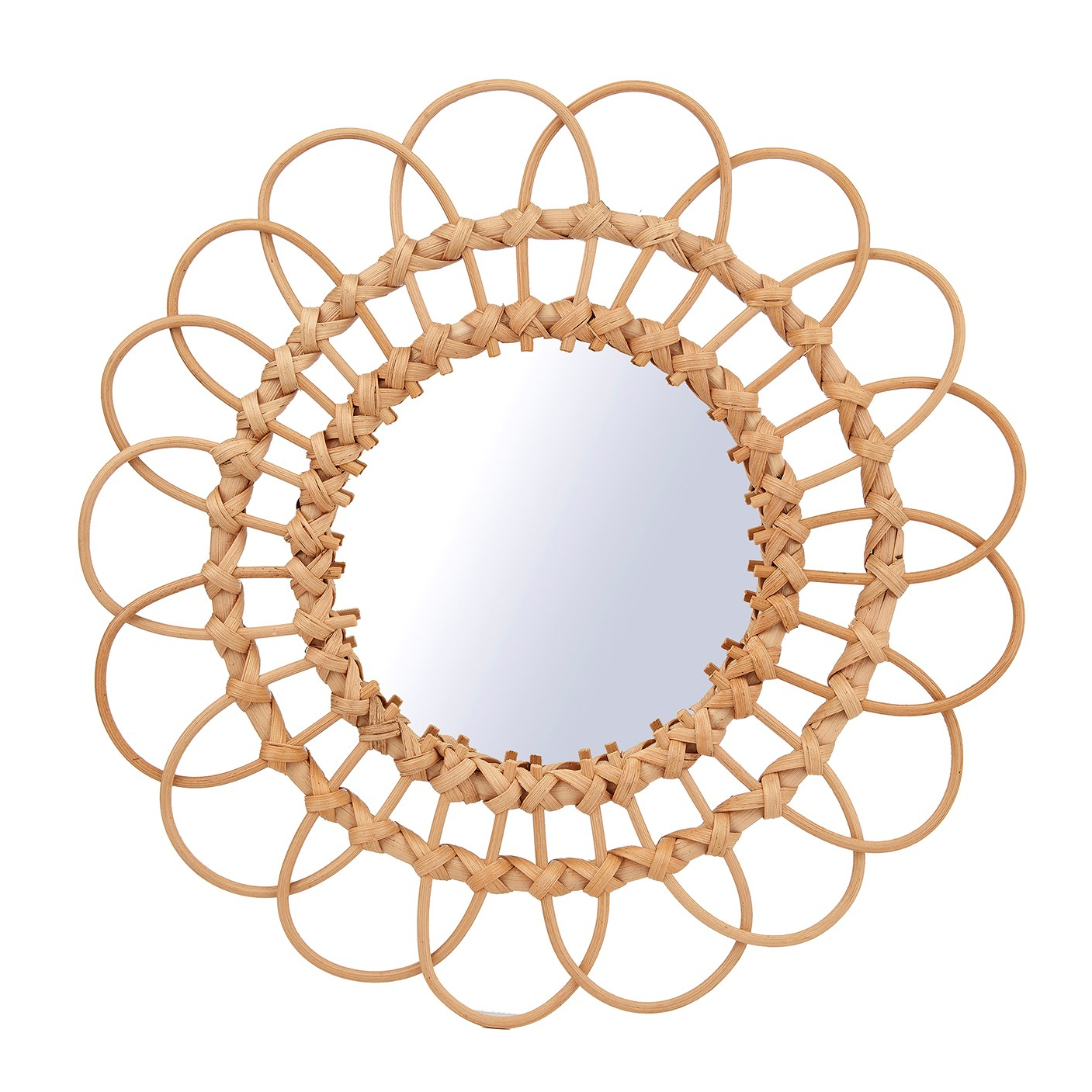Rattan Wall Mirrors Throughout Most Current Rattan Wall Mirror – Large (Gallery 6 of 20)