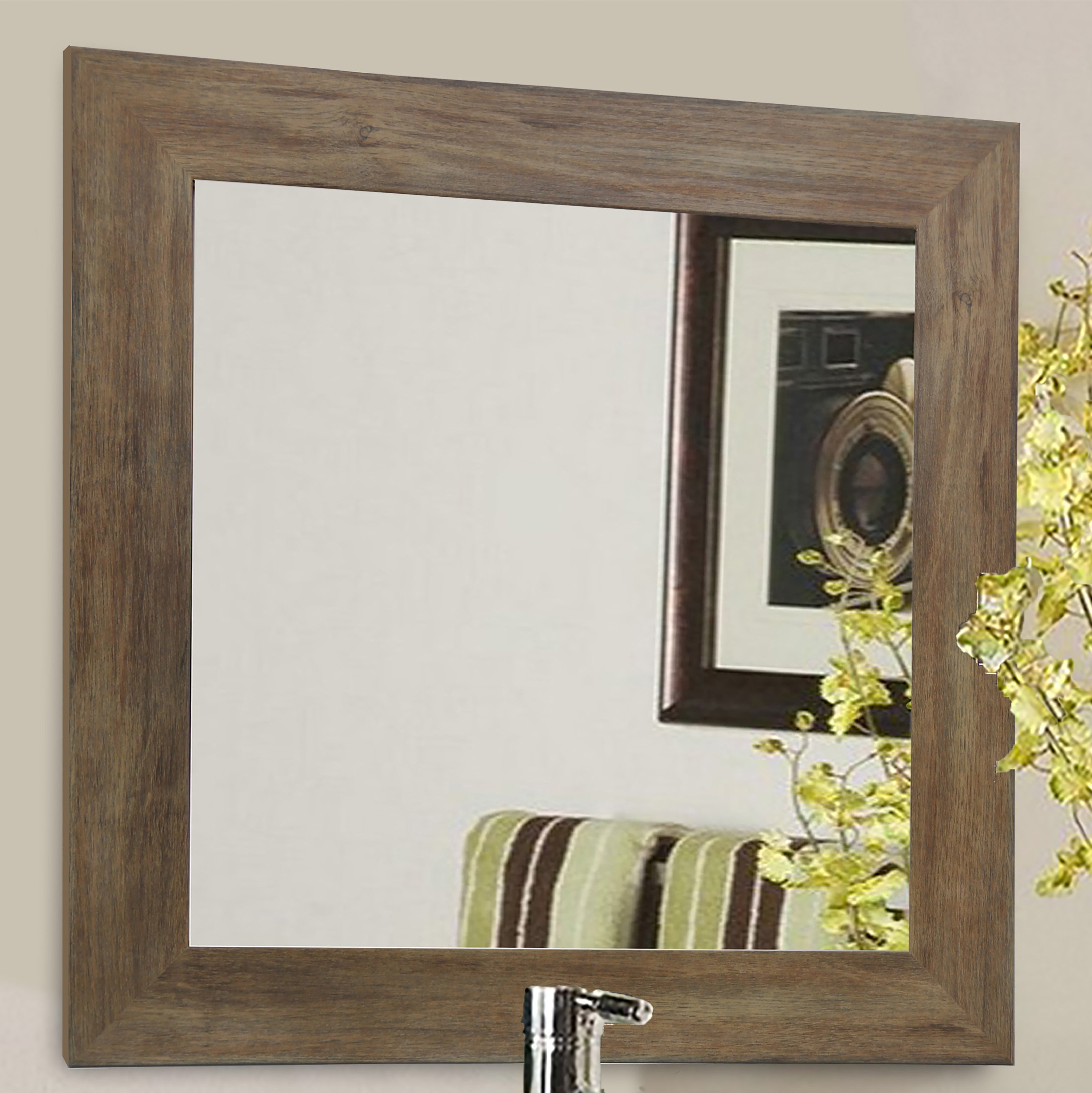 Rayne Mirrors Barnwood Wall Accent Mirror Throughout Famous Eriq Framed Wall Mirrors (View 16 of 20)