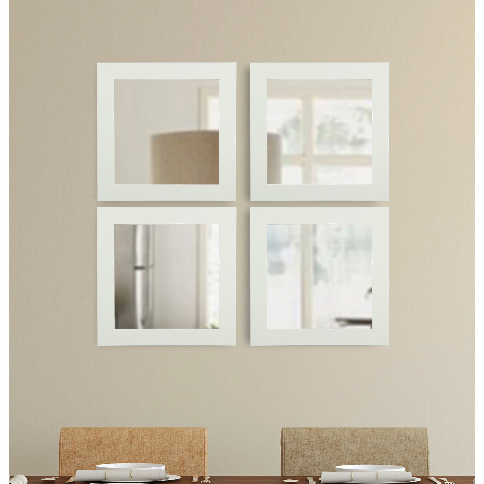 Rayne Mirrors Delta Square Wall Mirror – Set Of 4 Throughout Widely Used Square Wall Mirror Sets (View 17 of 20)