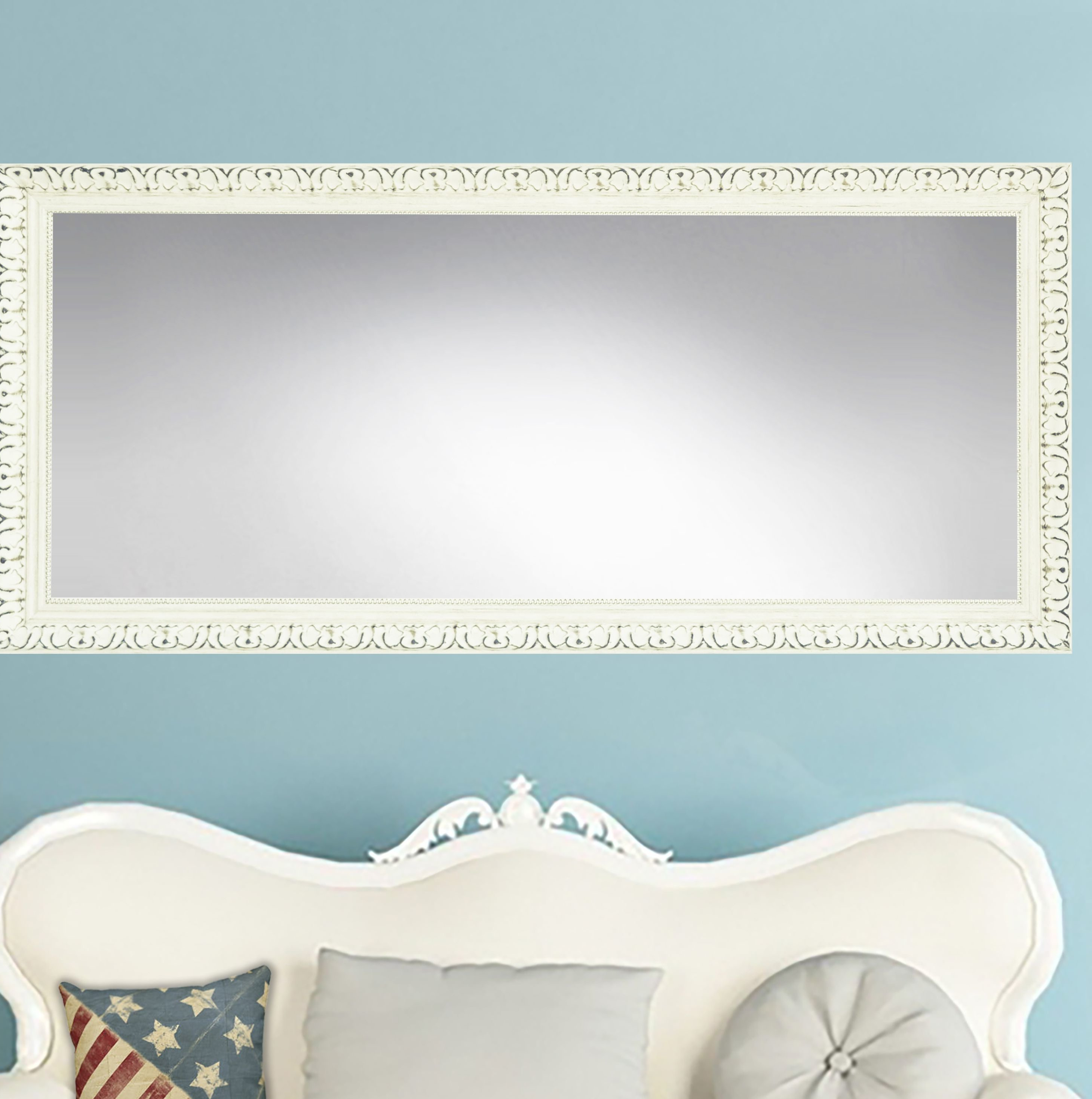 Rayne Mirrors French Victorian Modern & Contemporary Distressed Accent  Mirror In Well Known Dekalb Modern & Contemporary Distressed Accent Mirrors (View 17 of 20)