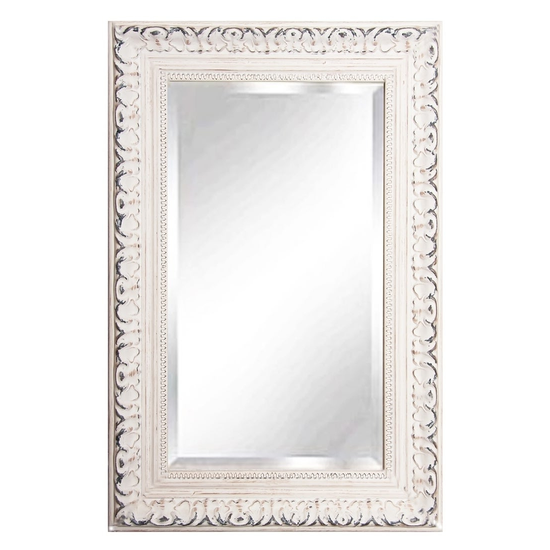 "Rayne Mirrors French Victorian White Rectangular Wall Mirror – 23.5""x (View 19 of 20)"