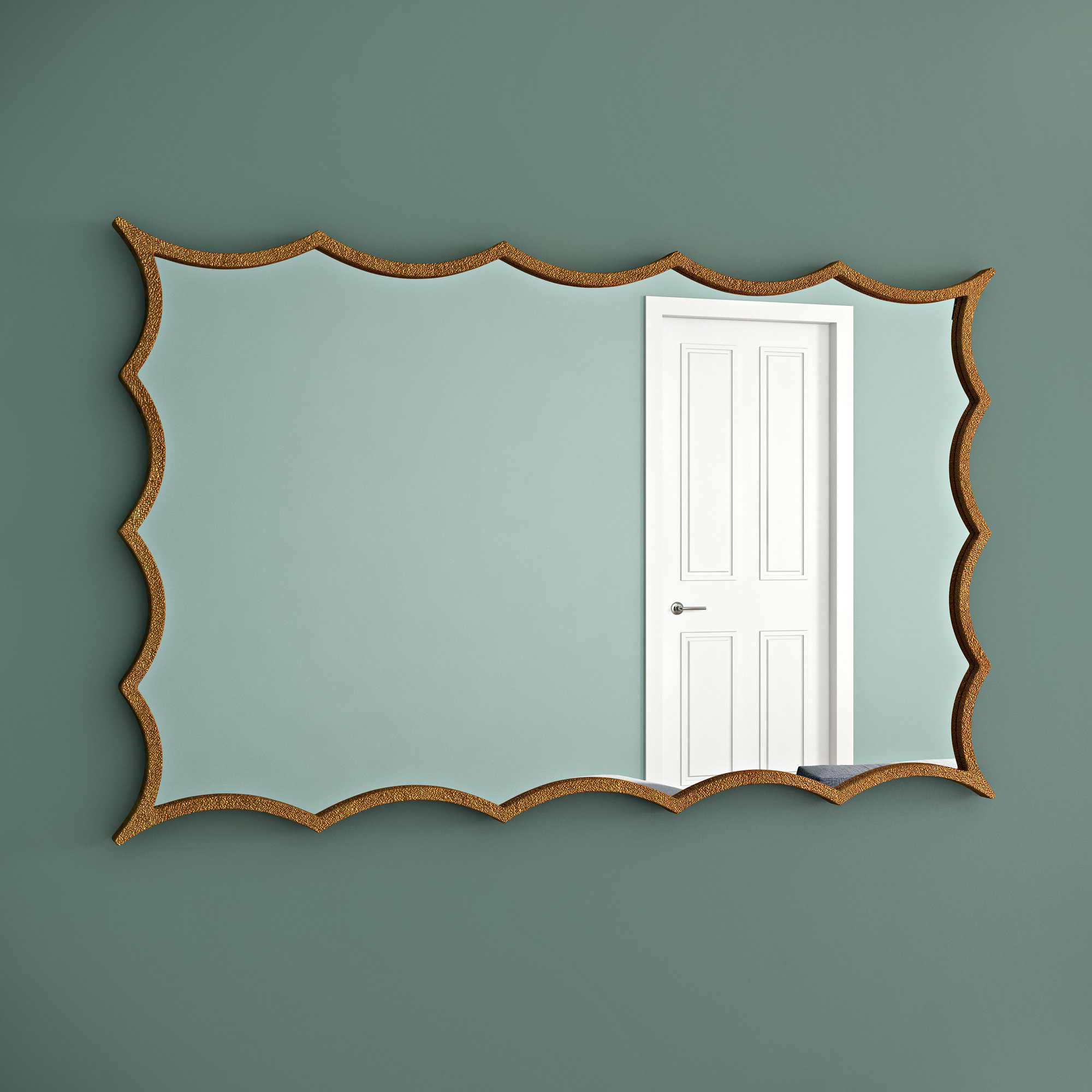 Reba Accent Wall Mirrors In Famous Irregular Accent Mirror (View 14 of 20)