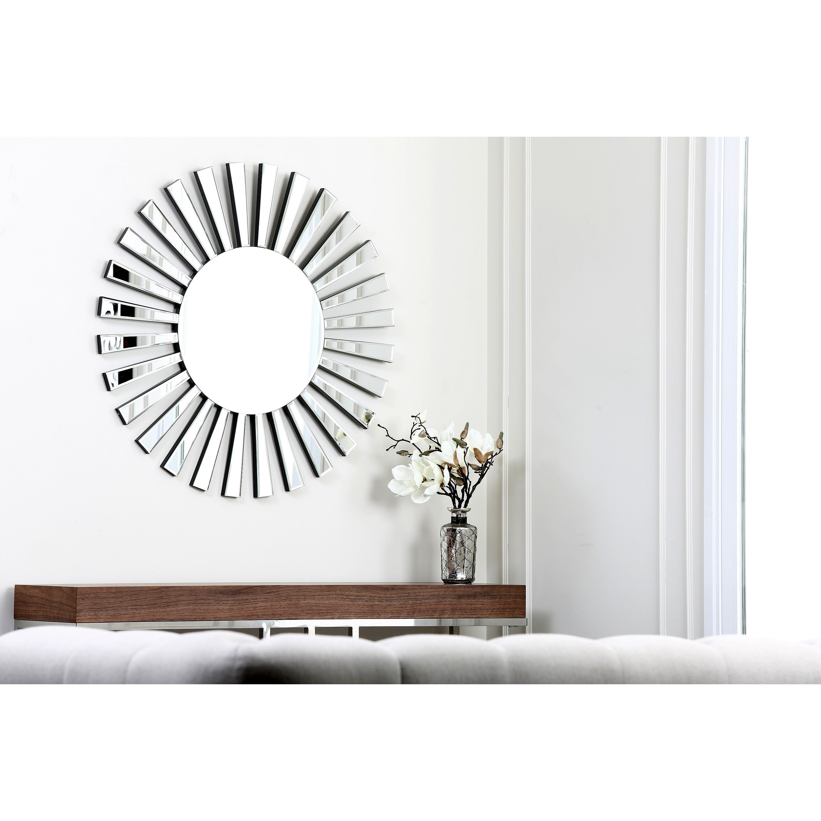 Recent Abbyson Living Soleil Round Wall Mirror Intended For Soleil Wall Mirrors (View 16 of 20)