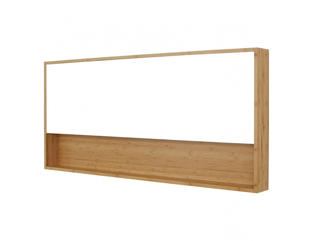 Recent Bamboo Wall Mirrors Intended For Drew Bamboo Wall Mirror With Shelf (View 20 of 20)