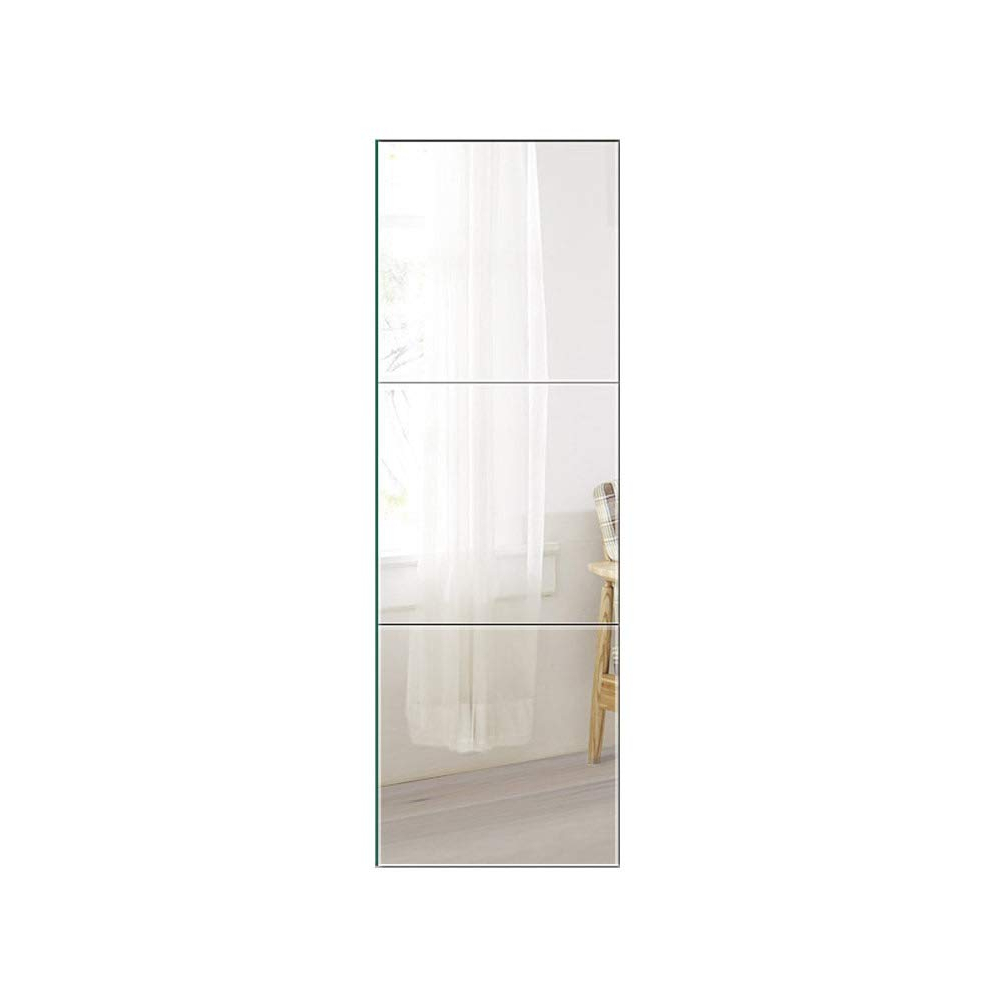 Recent Beauty4U Full Length Tall Mirror Tiles – 16 Inch X 3Pcs Frameless Wall  Mirror Set Hd Vanity Make Up Mirror For Wall Décor With Regard To Full Length Frameless Wall Mirrors (Gallery 12 of 20)