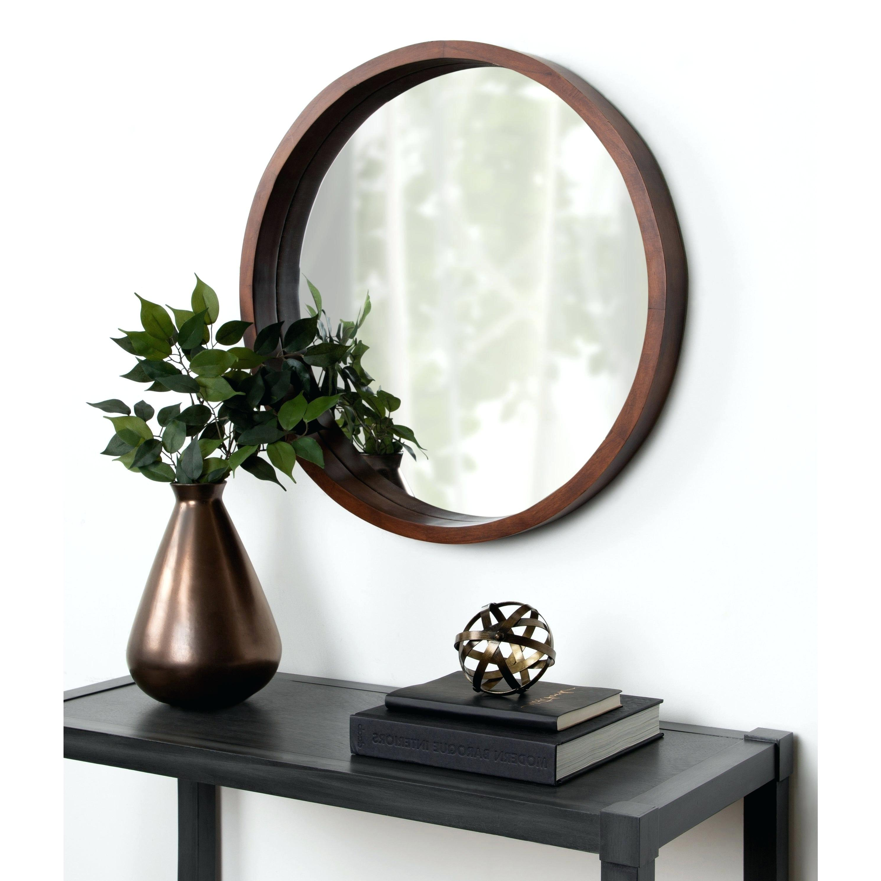 Recent Booth Reclaimed Wall Mirrors Accent With Regard To Remarkable Wooden Wall Mirror With Shelf Metal Wood Decor Mirrors (View 17 of 20)