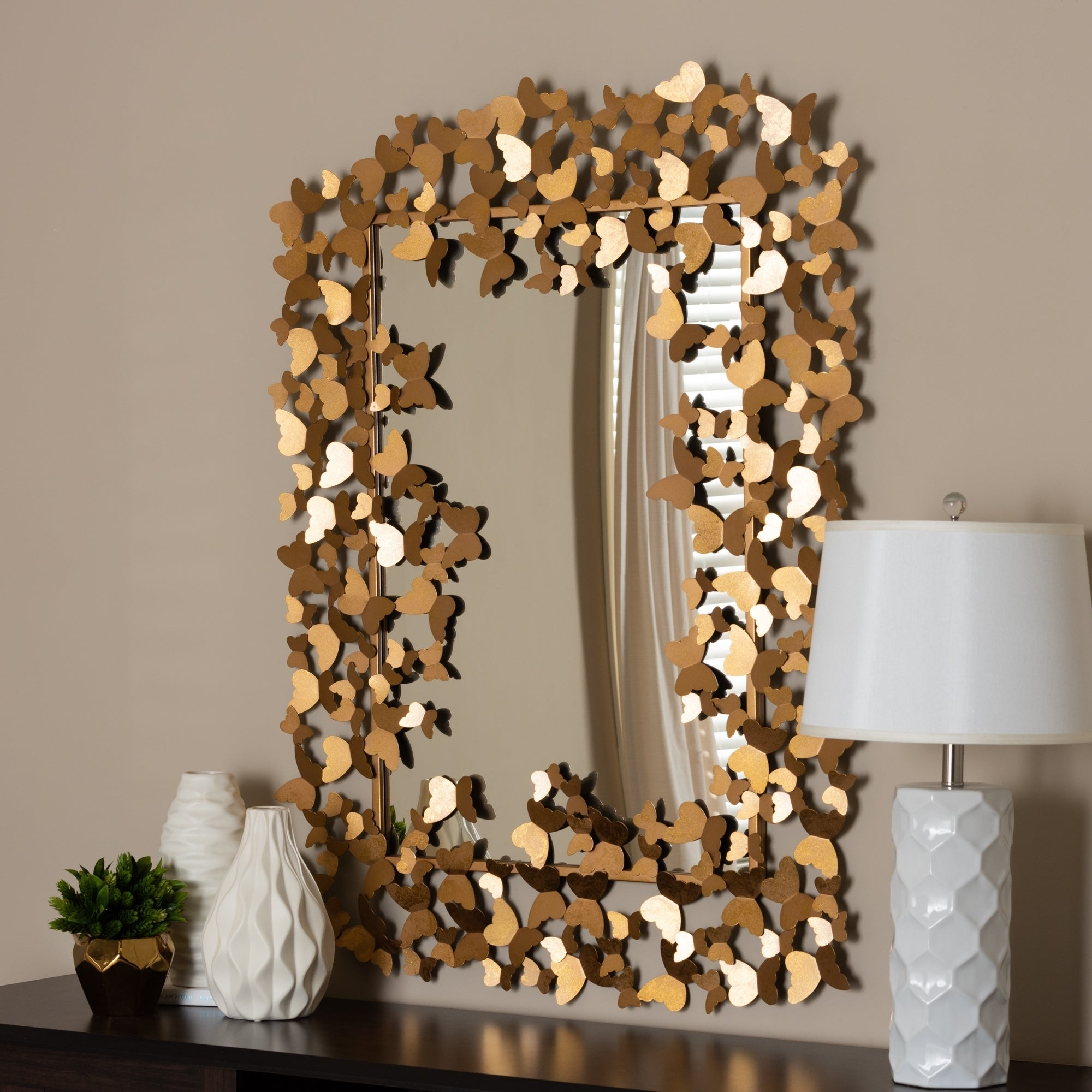 Recent Butterfly Wall Mirrors In Contemporary Antique Gold Butterfly Wall Mirrorbaxton Studio – Antique  Gold (View 14 of 20)