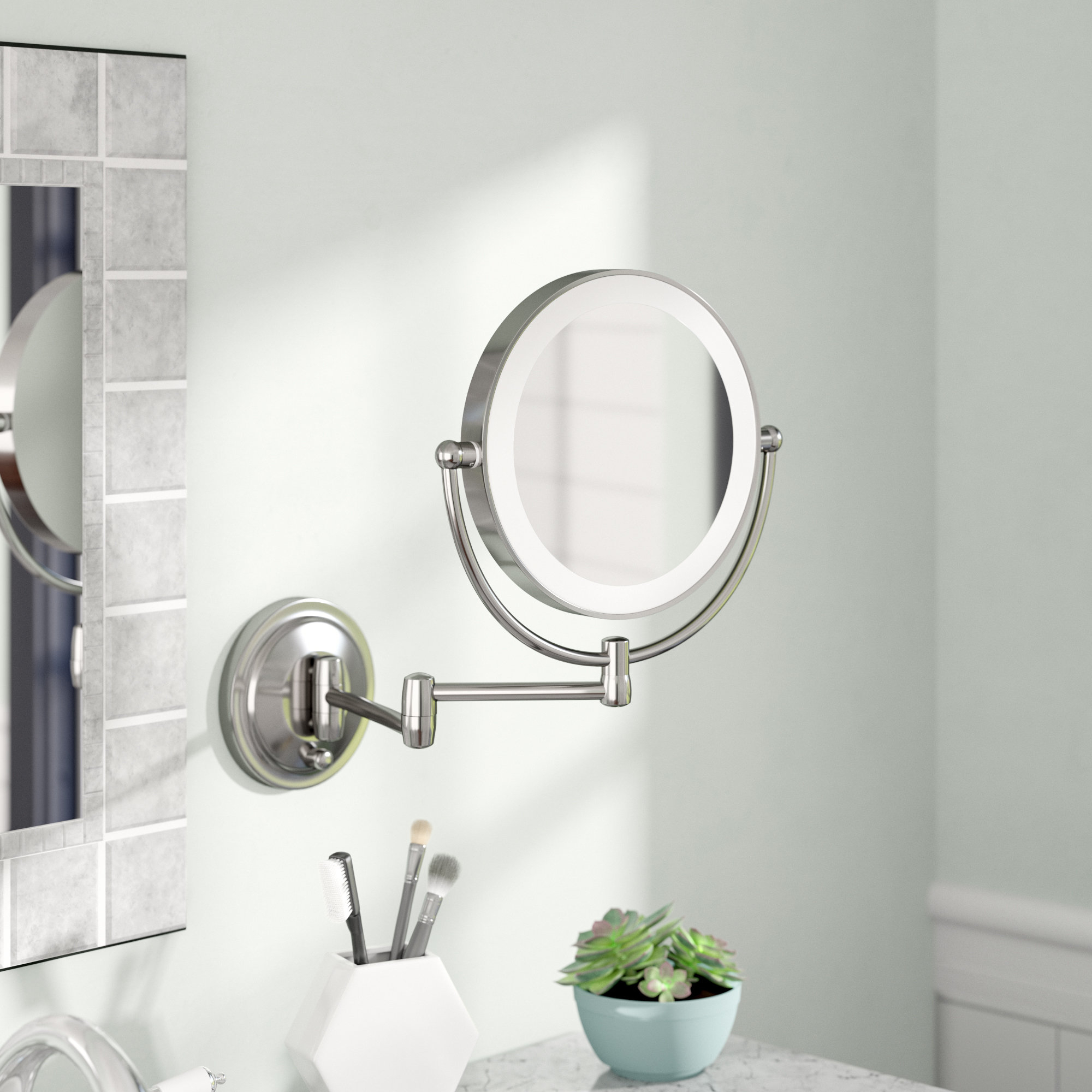 Recent Capri Dual Led Lighted Wall Mirror Regarding Lighted Wall Mirrors For Bathrooms (View 14 of 20)