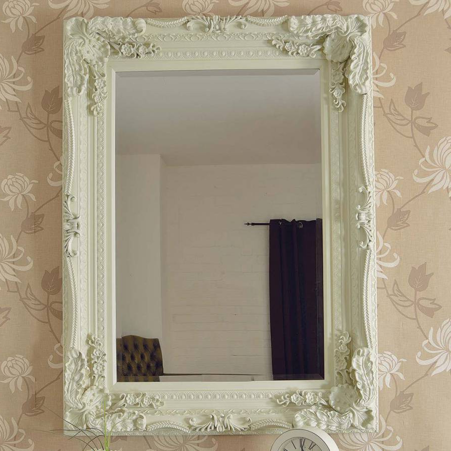 Recent Carved Louis Ivory Wall Mirror 122 X 91Cm With Regard To Ivory Wall Mirrors (View 17 of 20)