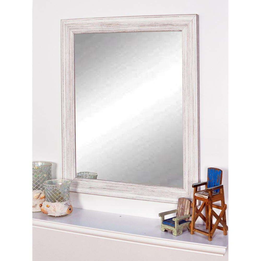 Recent Coastal Wall Mirrors For Coastal Whitewood Framed Mirror (View 14 of 20)
