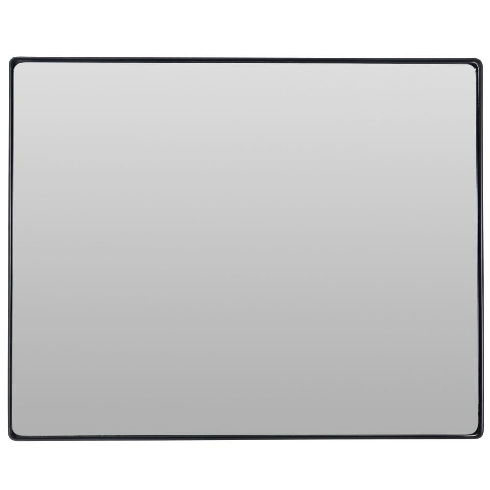 Recent Concave Wall Mirrors Regarding Kye 24x30 Rectangular Rounded Wall Mirror – Black : 520mpe (View 18 of 20)