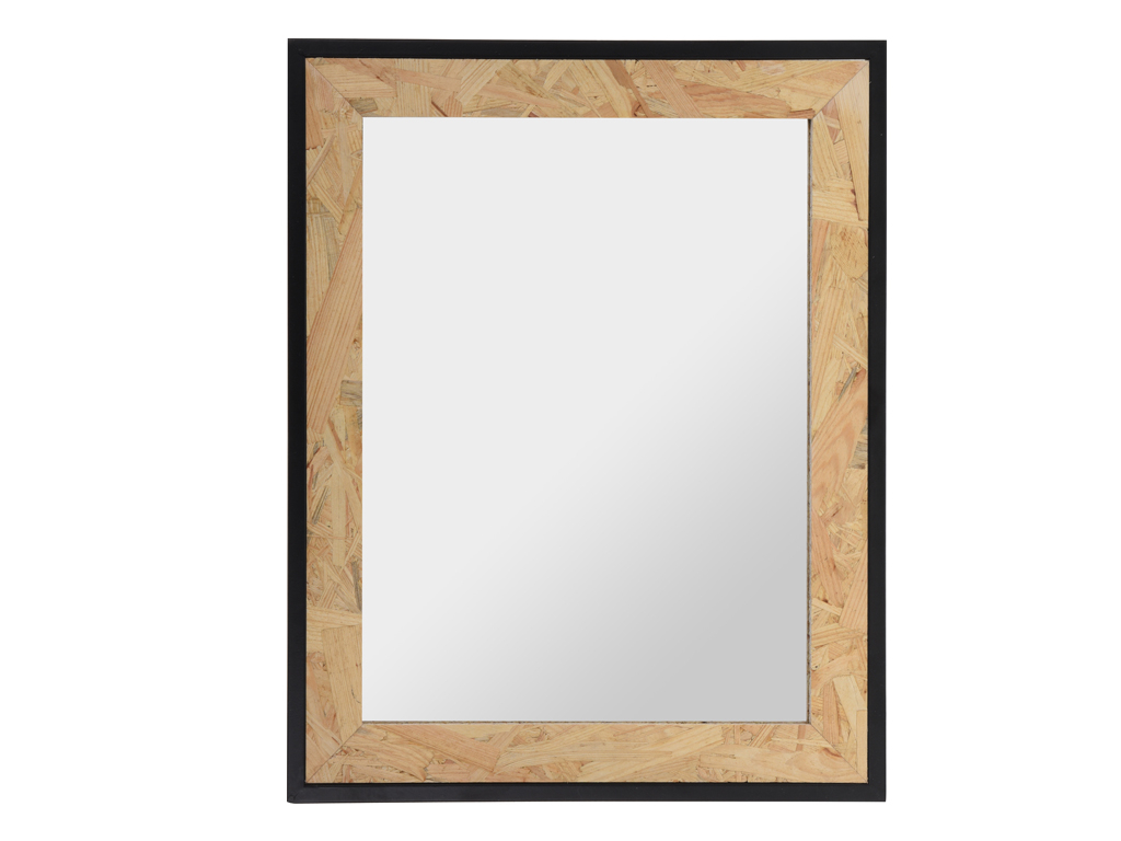 Recent Decorative Mirror In Rectangular Shape, 45x53x1,5cm Wood And Glass, Hz1006580 Throughout Hallas Wall Organizer Mirrors (View 12 of 20)