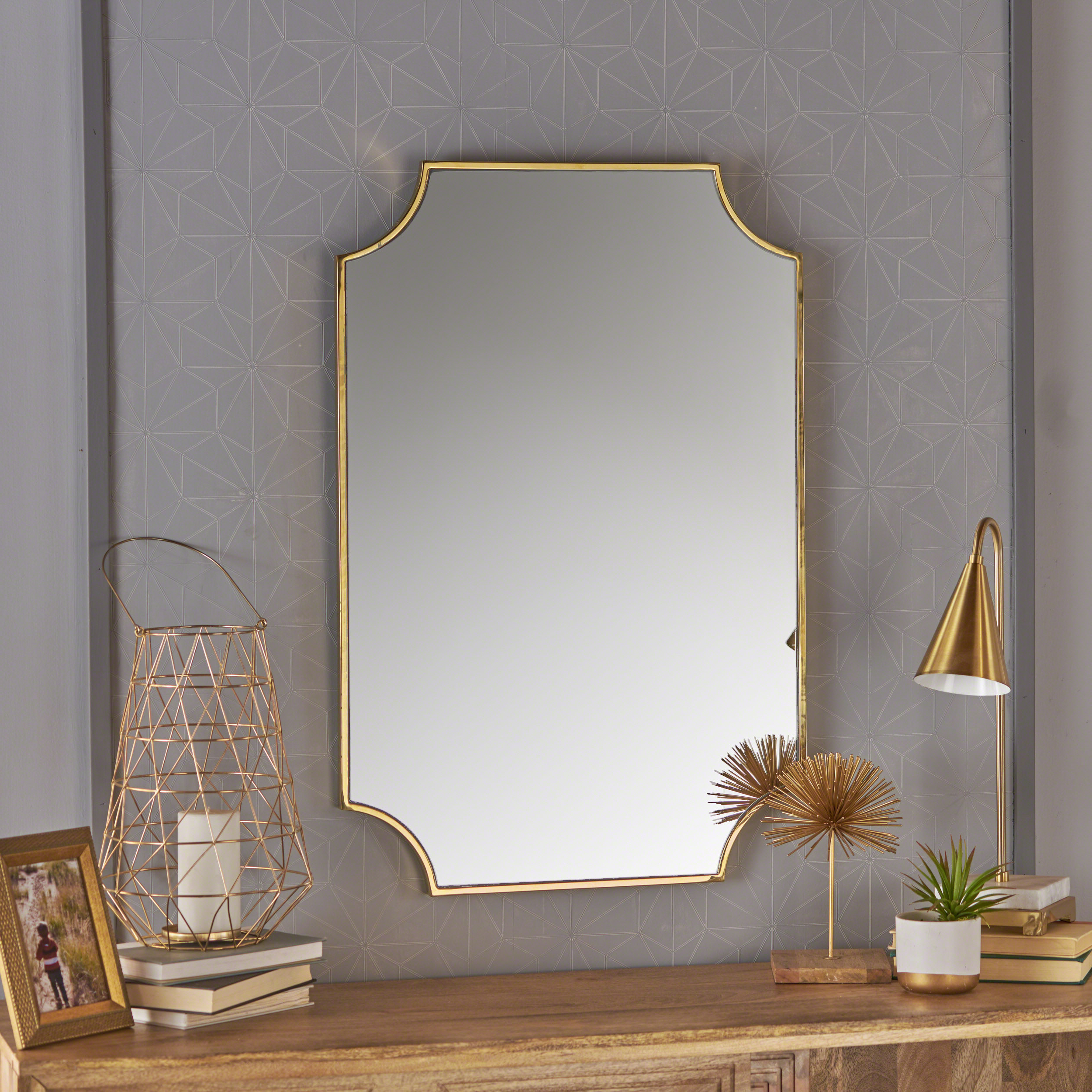 Recent Estelle Glam Wall Mirror With Stainless Steel Frame, Gold Finish Within Stainless Steel Wall Mirrors (View 10 of 20)