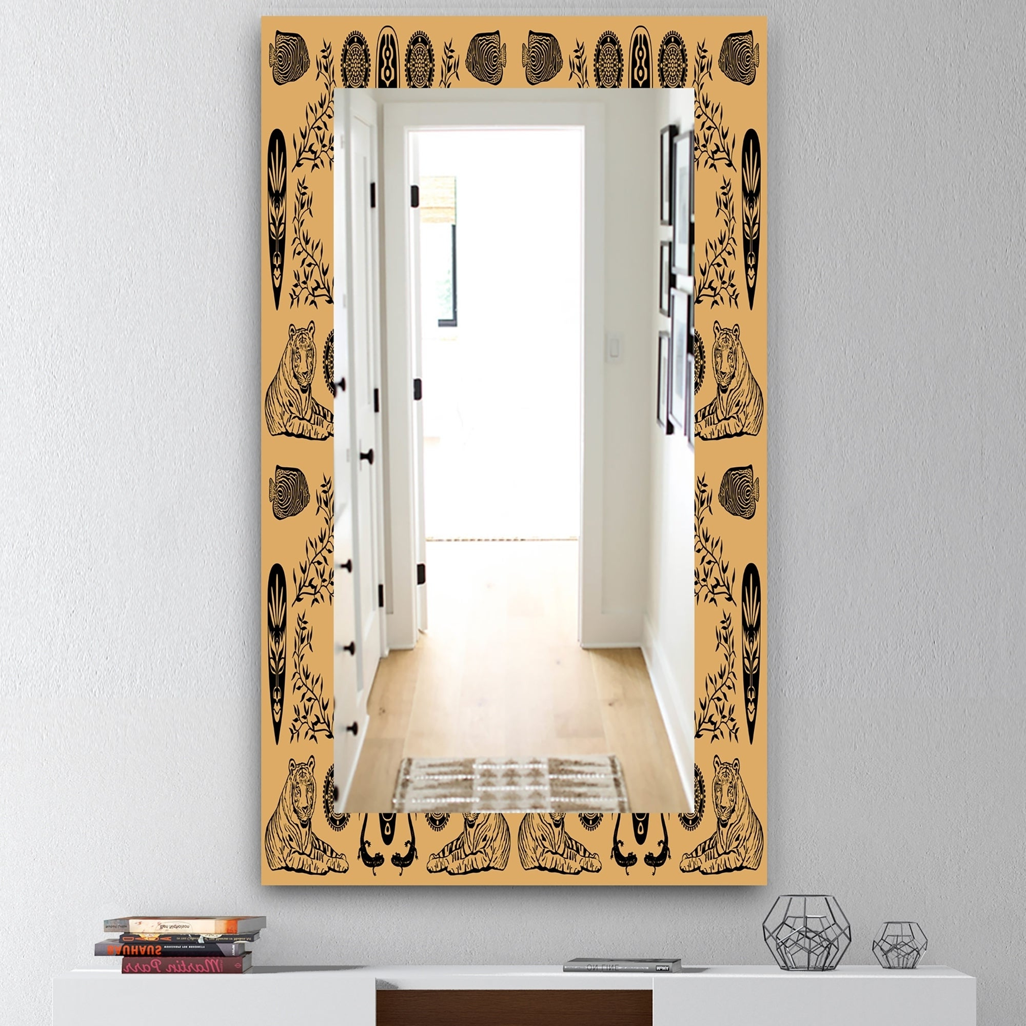 Recent Ethnic Wall Mirrors Inside Designart 'ethnic Mask' Bohemian And Eclectic Mirror – Wall Mirror – Orange (View 17 of 20)