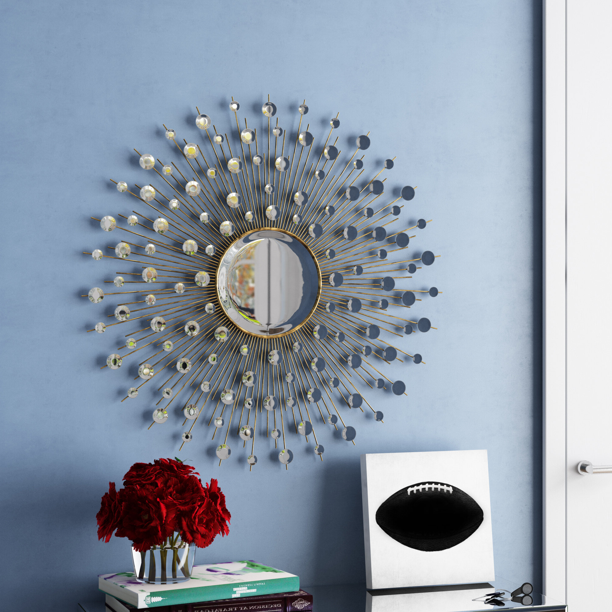Recent Everly Quinn Milivoje Starburst Accent Mirror In Bruckdale Decorative Flower Accent Mirrors (View 14 of 20)