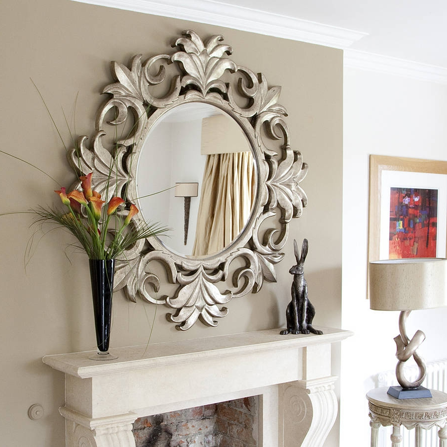 Recent Fancy Round Wall Mirrors • Bathroom Mirrors And Wall Mirrors Within Fancy Wall Mirrors (View 2 of 20)