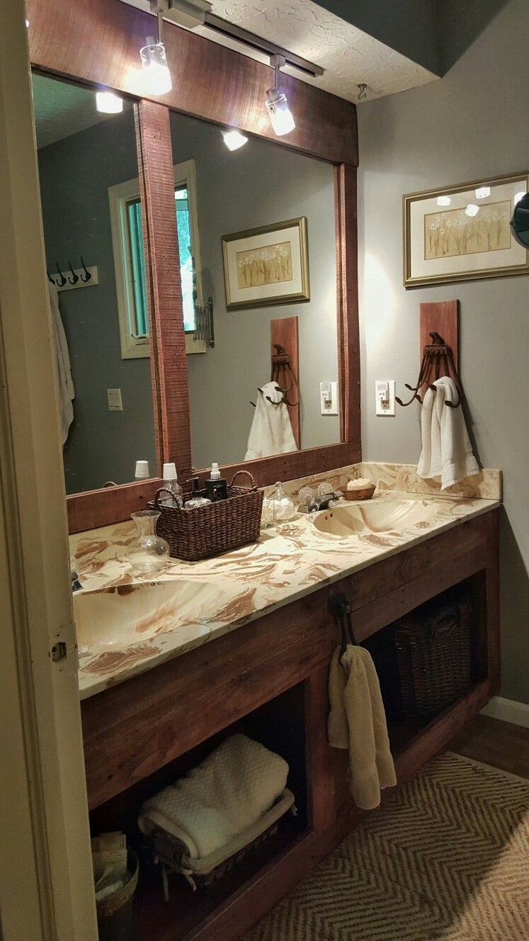 Recent Framed And Outdated Full Wall Mirror In The Guest Bathroom (View 10 of 20)