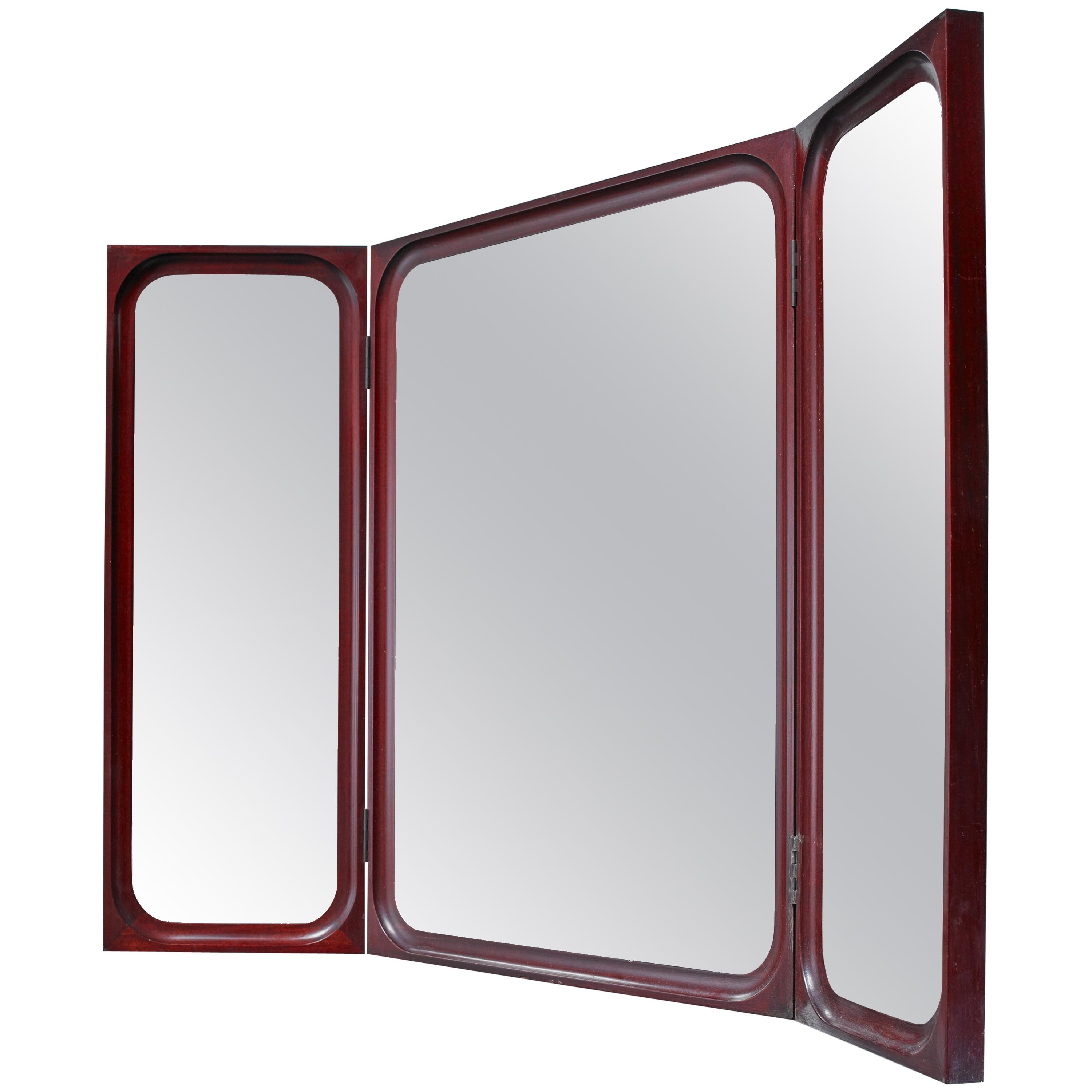 Recent Frode Holm Fold Out Triptych Wall Mirror For Illums Bolighus, Denmark, 1950S Within Folding Wall Mirrors (View 13 of 20)