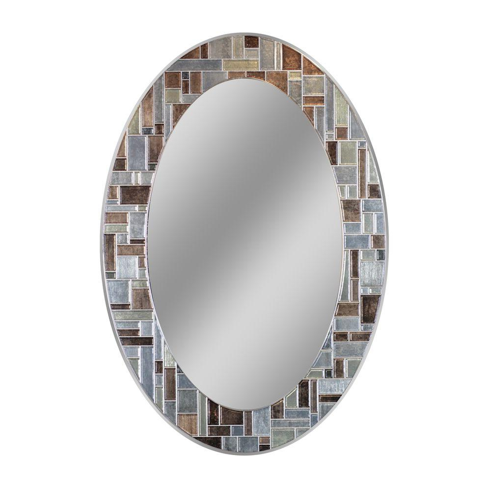 Recent Glass Mosaic Wall Mirrors Pertaining To Deco Mirror 31 In. L X 21 In (View 15 of 20)